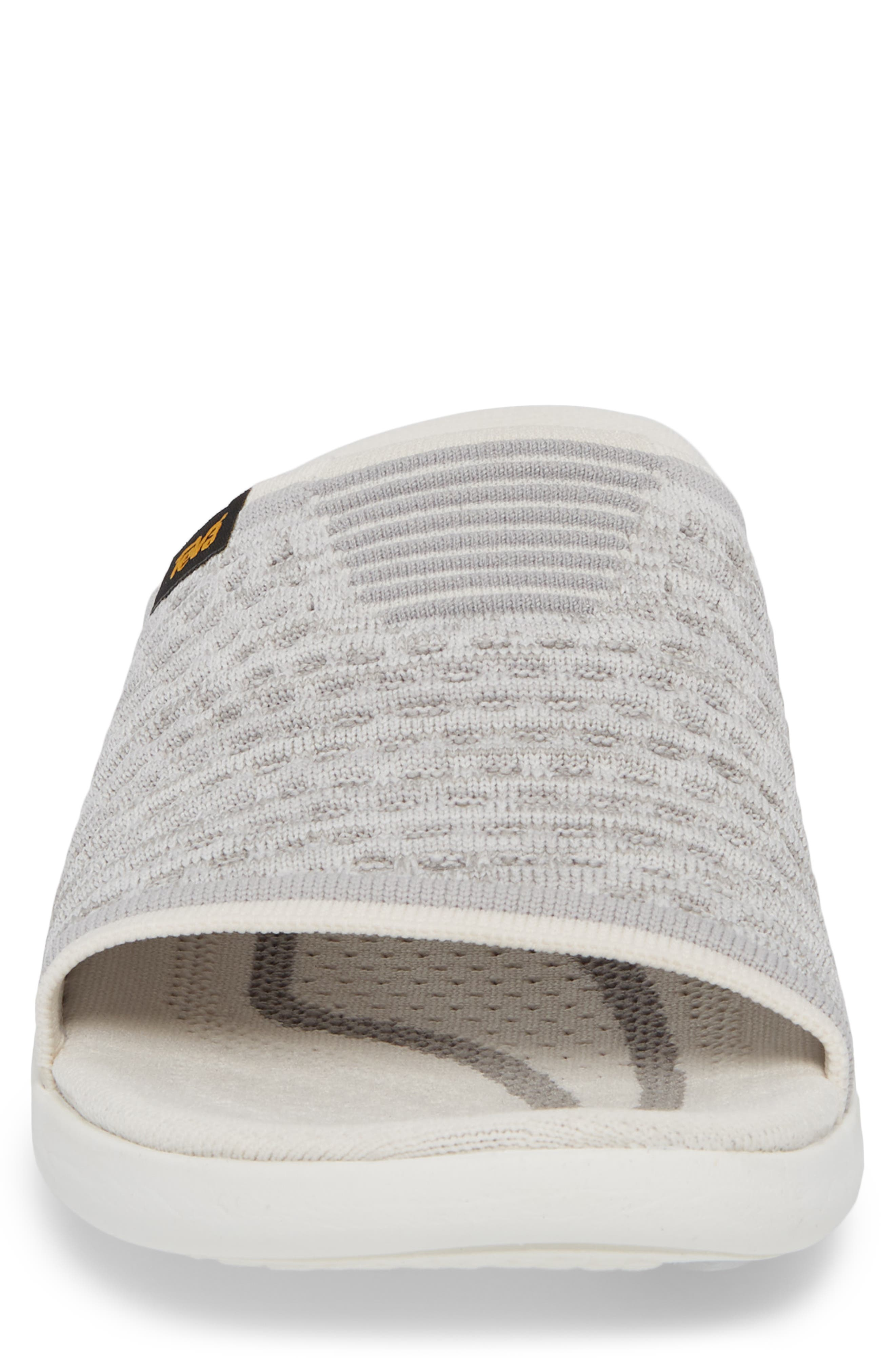 Terra-Float 2 Knit Slide Sandal,                             Alternate thumbnail 4, color,                             Bright White