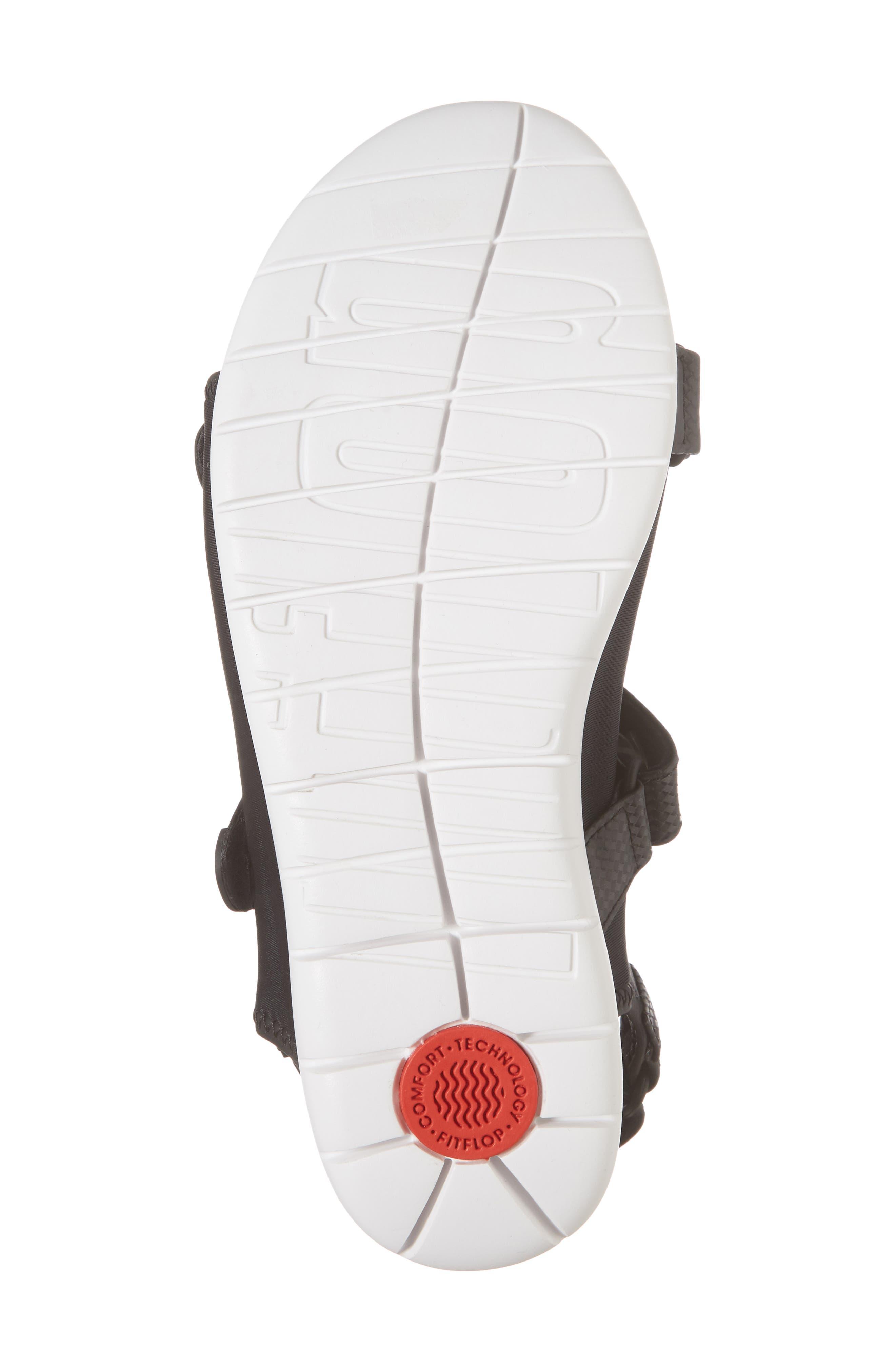 FitfFlop Neoflex<sup>™</sup> Back Strap Sandal,                             Alternate thumbnail 6, color,                             Black Leather