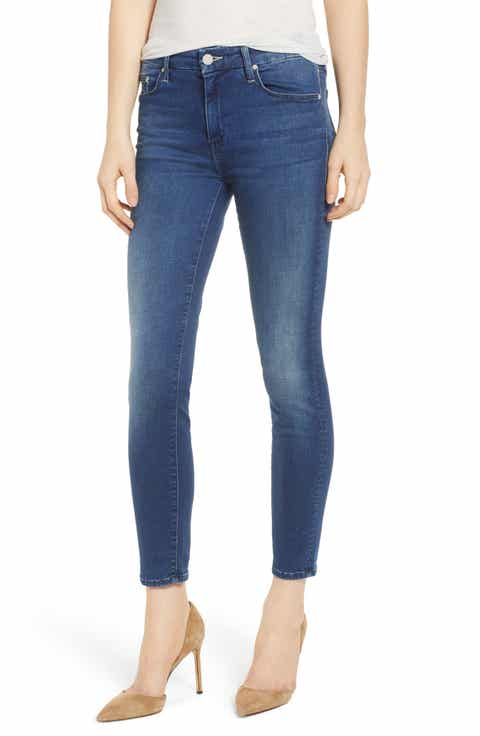 MOTHER The Looker Crop Skinny Jeans (Fast Times)