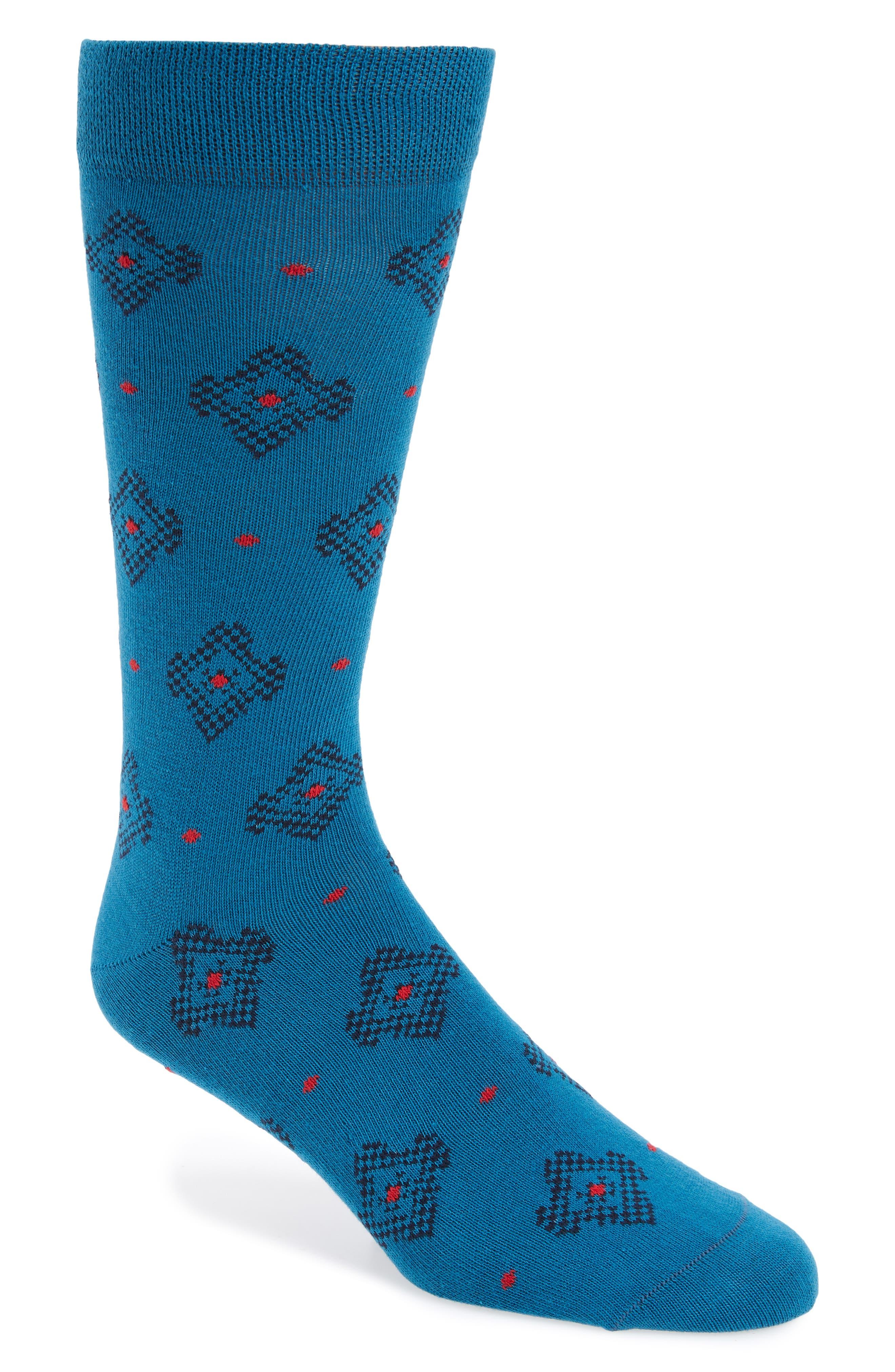 Veryhip Medallion Socks,                         Main,                         color, Blue