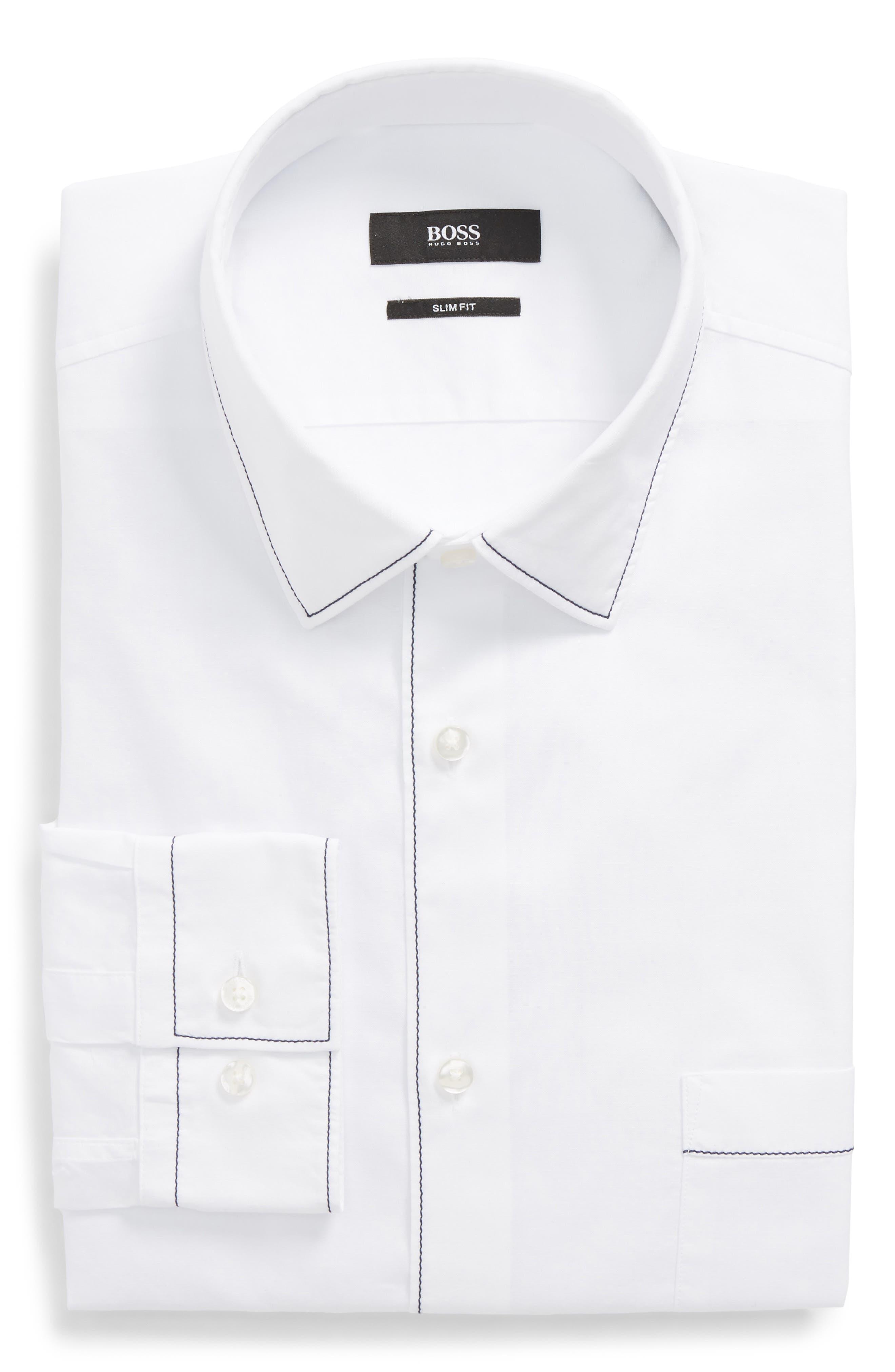 BOSS Jose Slim Fit Solid Dress Shirt