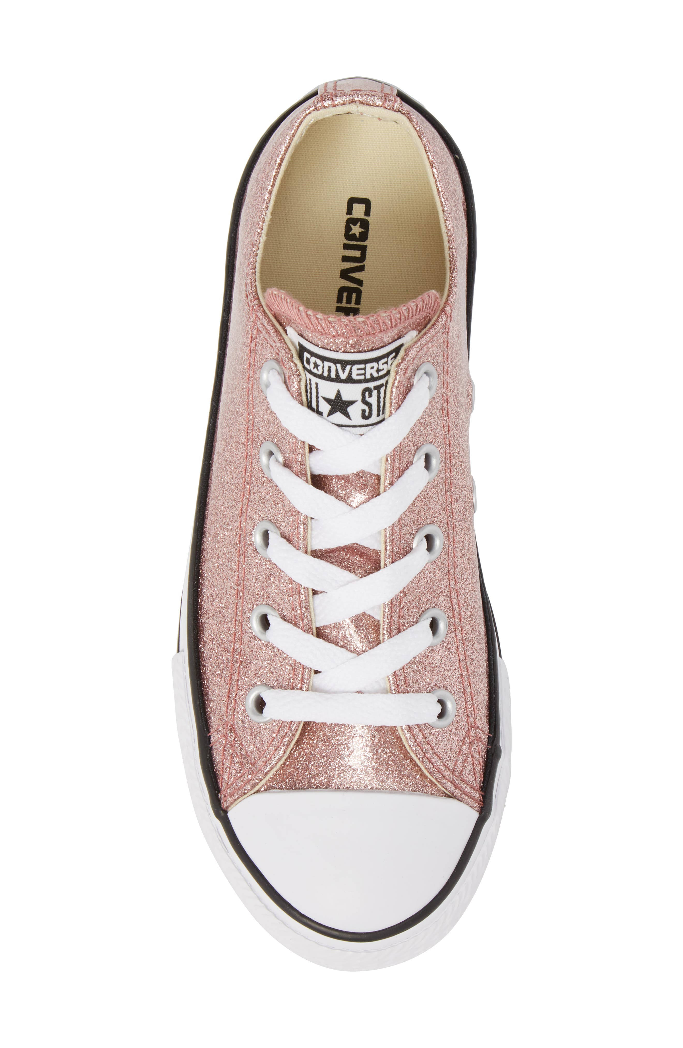 Chuck Taylor<sup>®</sup> All Star<sup>®</sup> Glitter Slip-On,                             Alternate thumbnail 5, color,                             Rose Gold