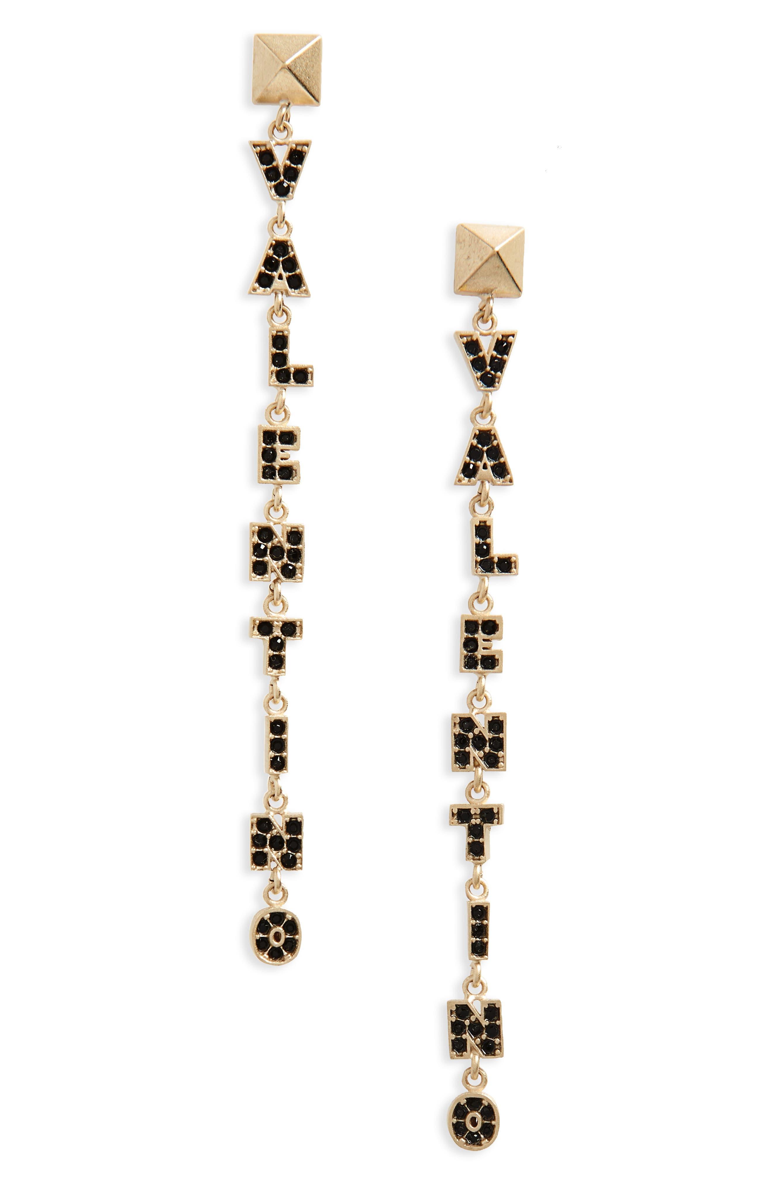 Valentino Logo Drop Earring