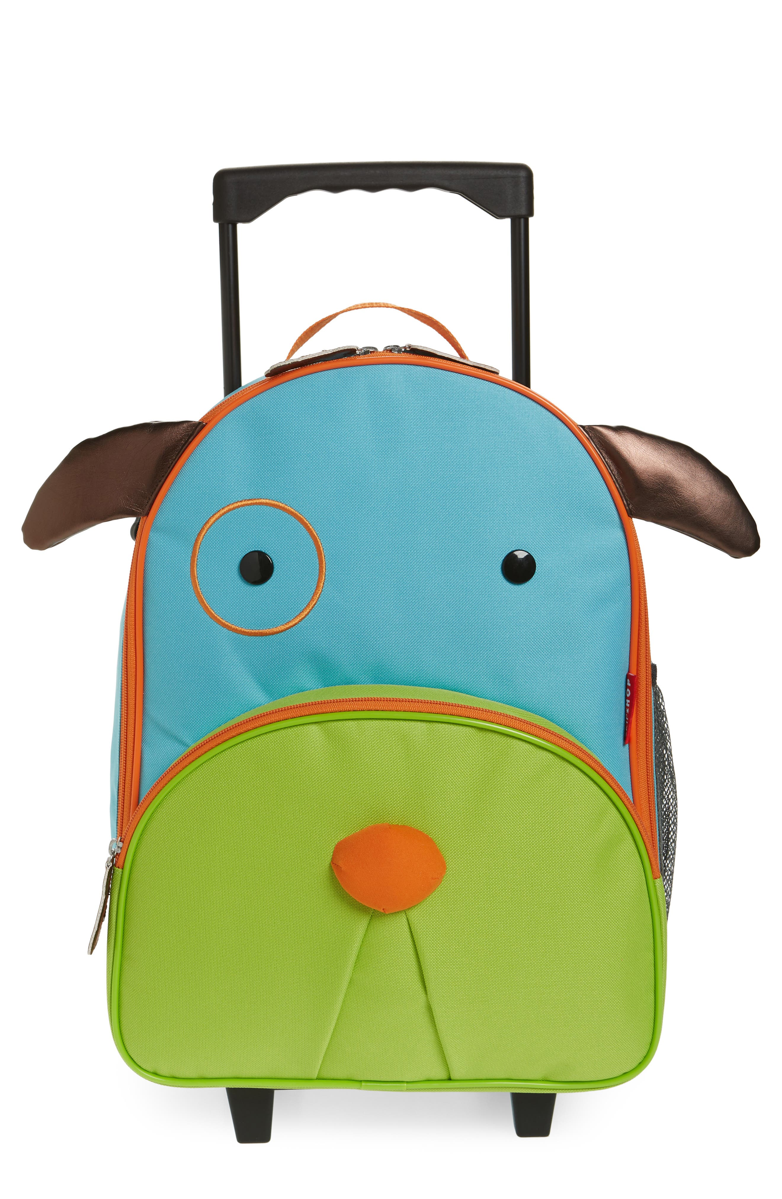 Rolling Luggage,                         Main,                         color, Blue Dog