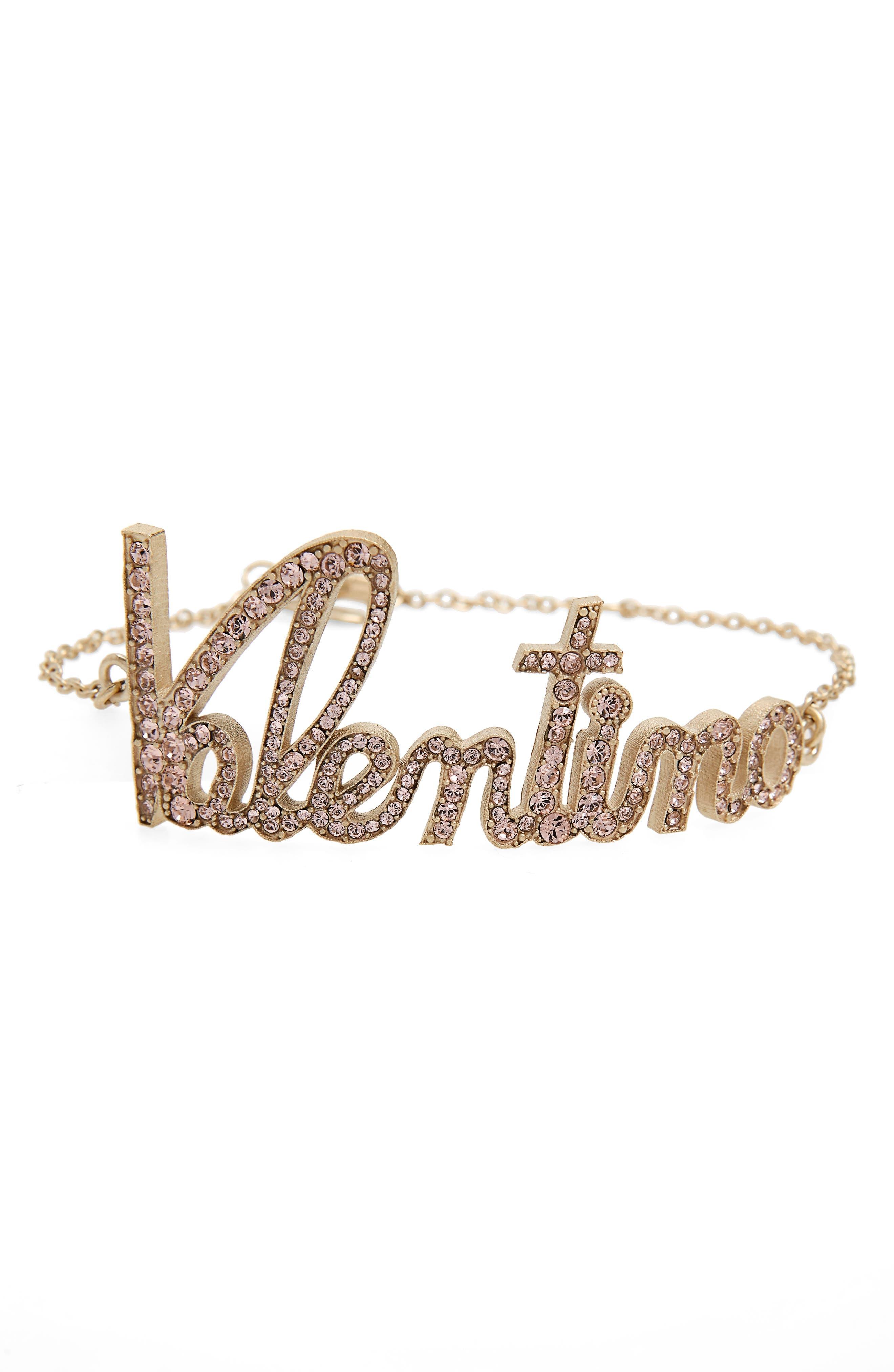 Main Image - Valentino Logo Script Bracelet