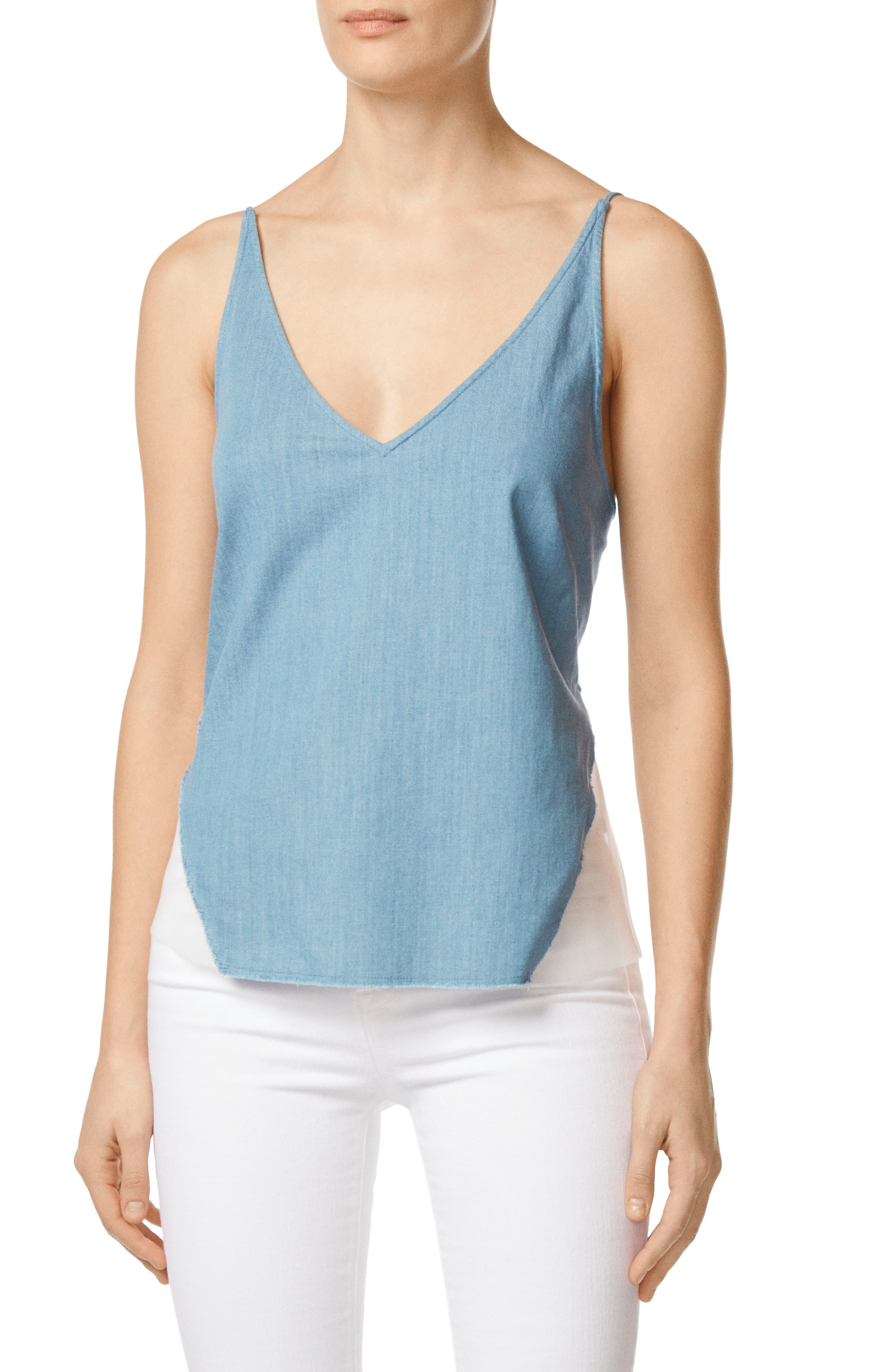 Lucy Illusion Back Camisole,                             Main thumbnail 1, color,                             Wishful
