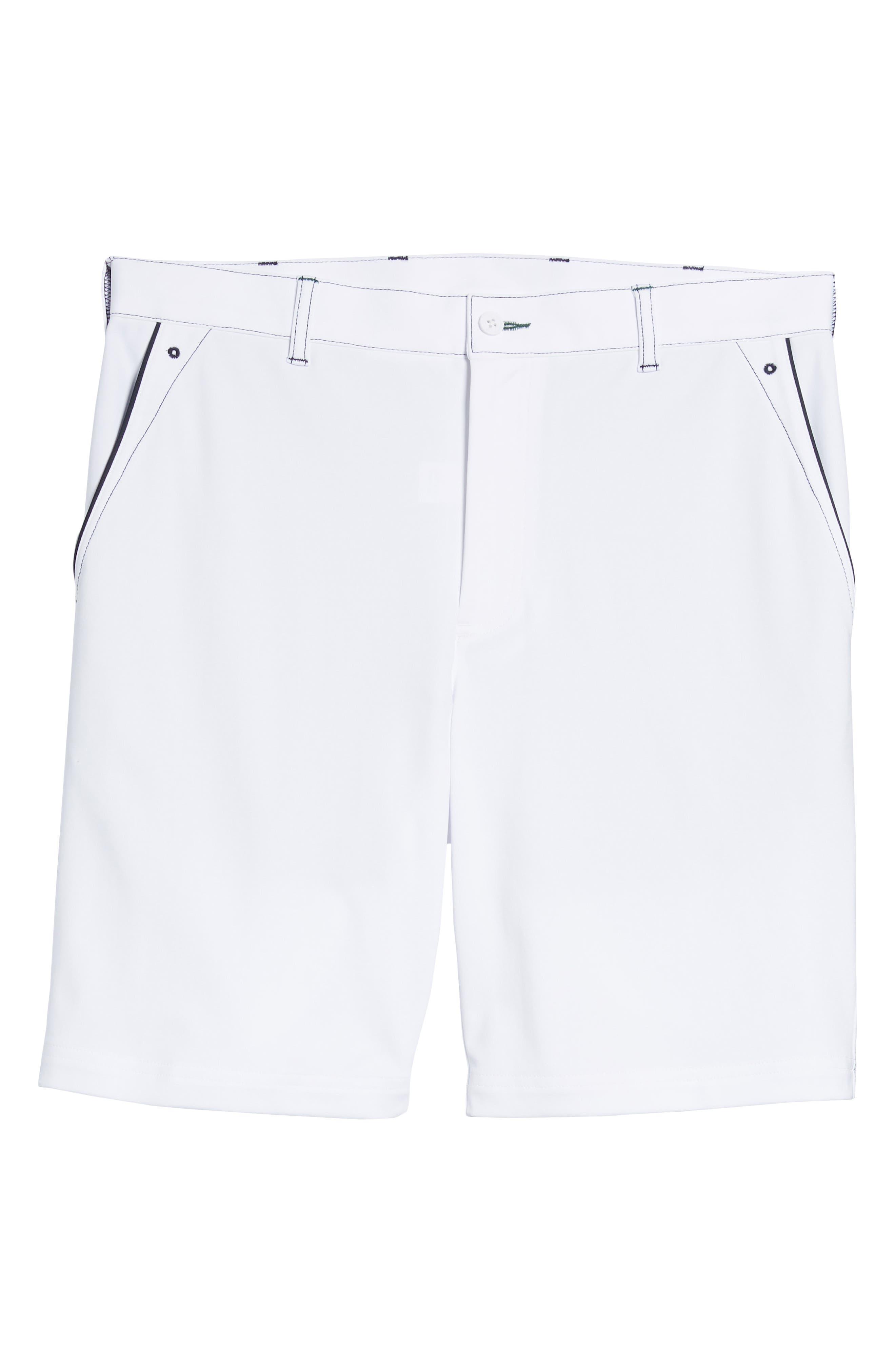 Trim Fit Tech Chino Shorts,                             Alternate thumbnail 6, color,                             White