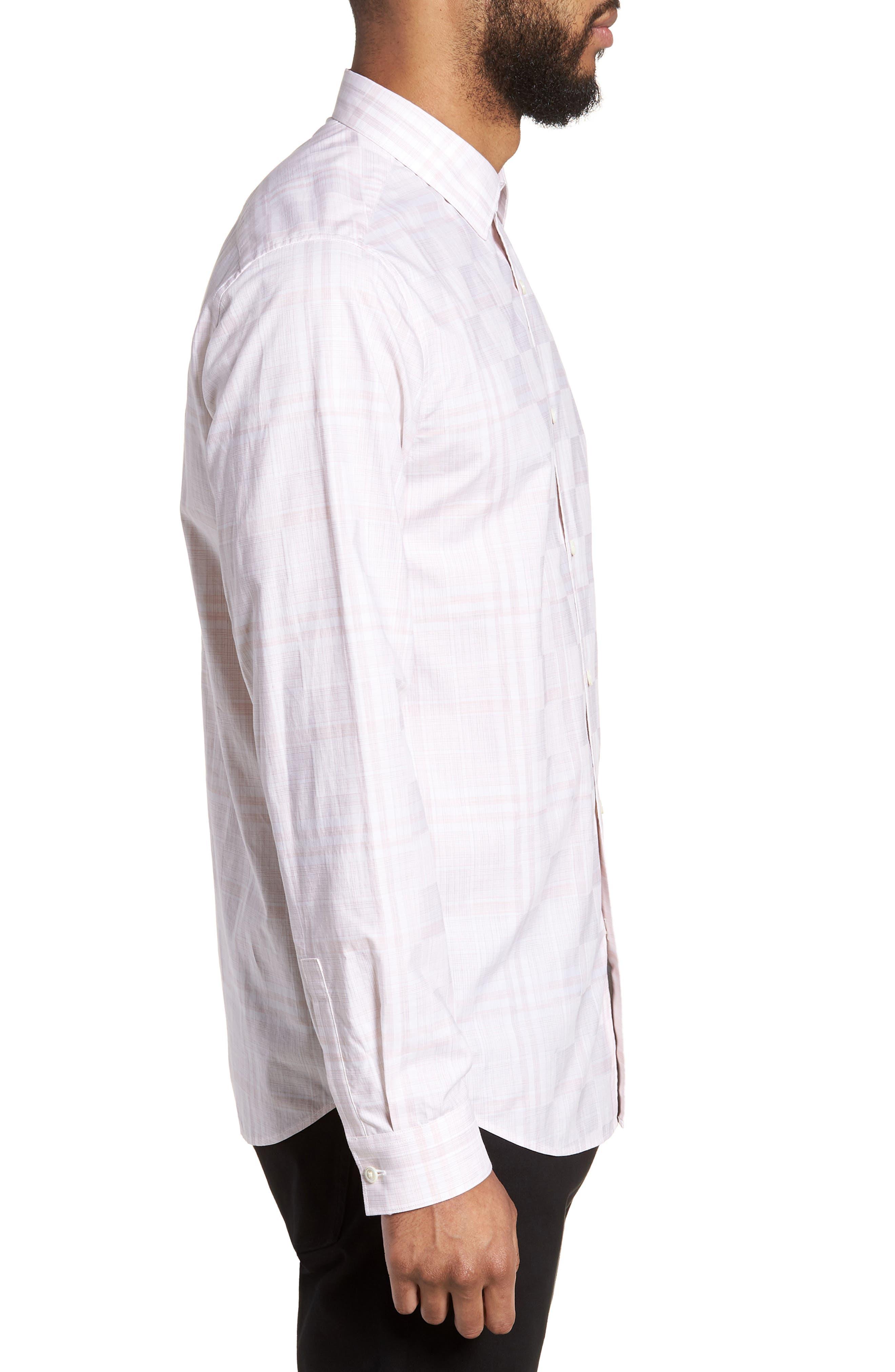 Murrary Dada Slim Fit Plaid Sport Shirt,                             Alternate thumbnail 3, color,                             Lotus Multi
