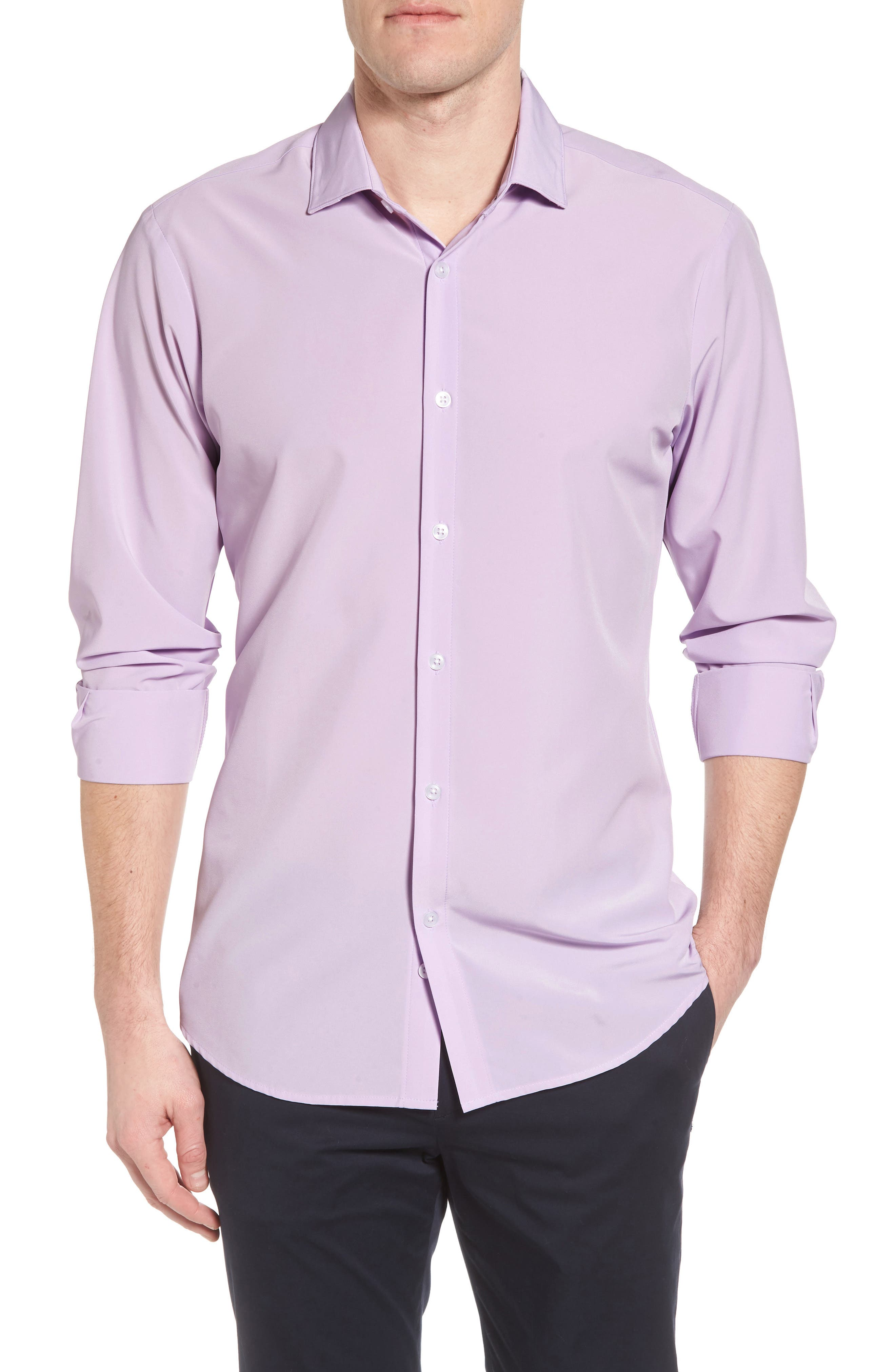 Henderson Performance Sport Shirt,                             Main thumbnail 1, color,                             Purple