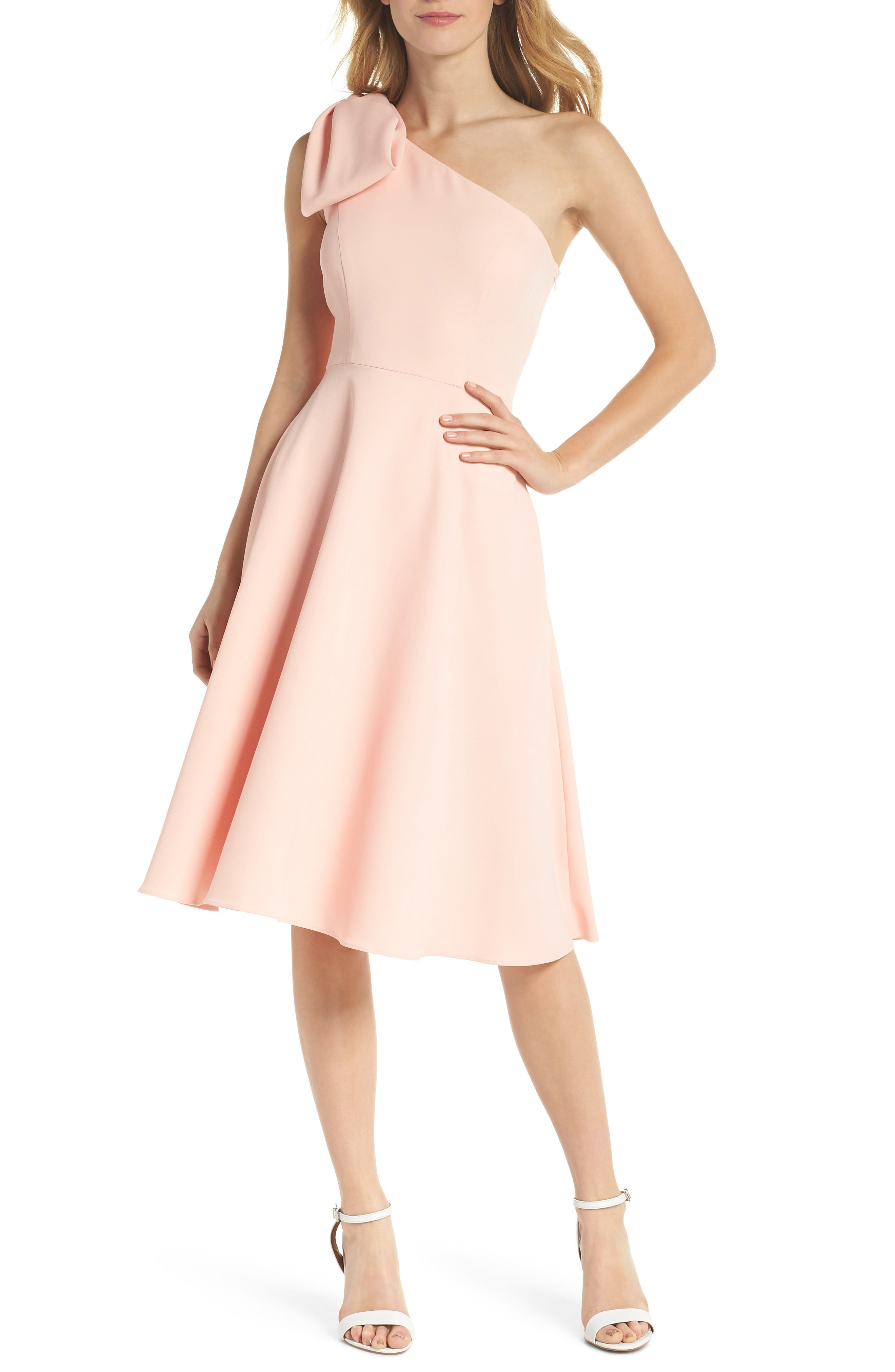 Gal Meets Glam Collection Dream Crepe One-Shoulder Dress