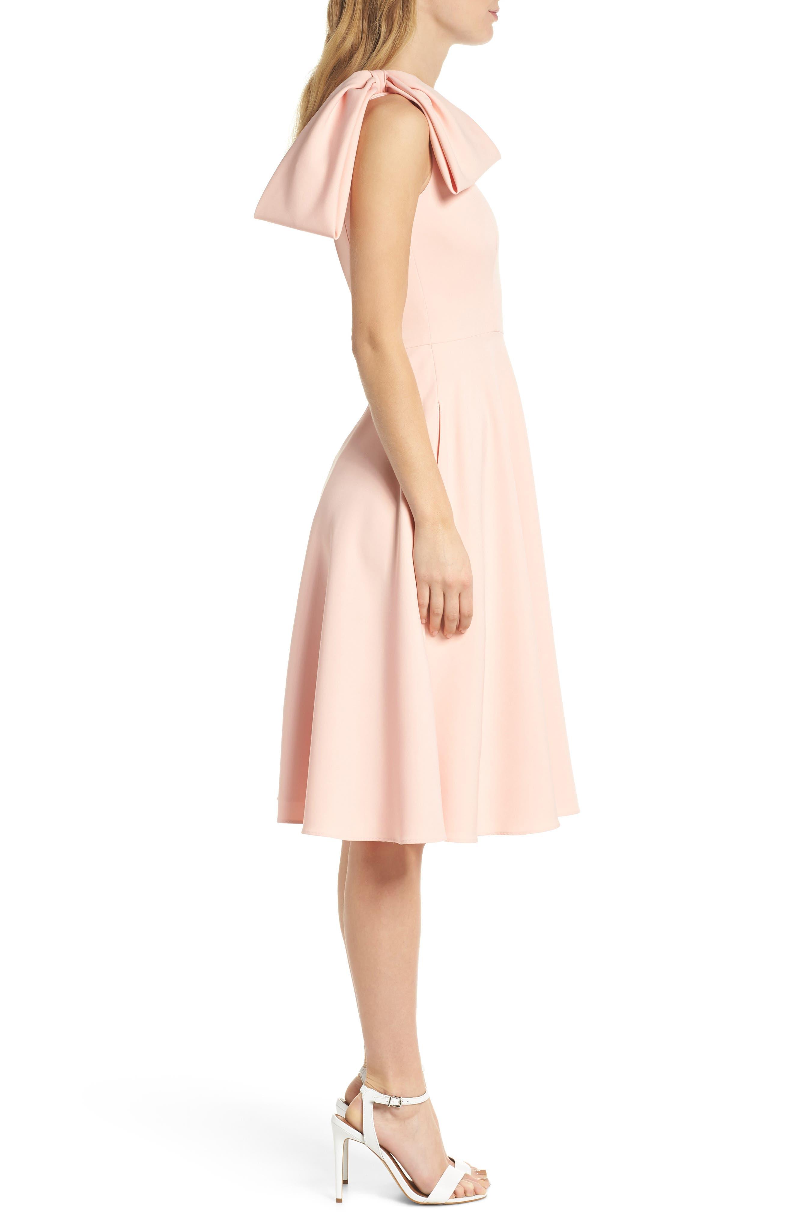 Yvonne Dream Crepe One-Shoulder Dress,                             Alternate thumbnail 4, color,                             Rose Quartz