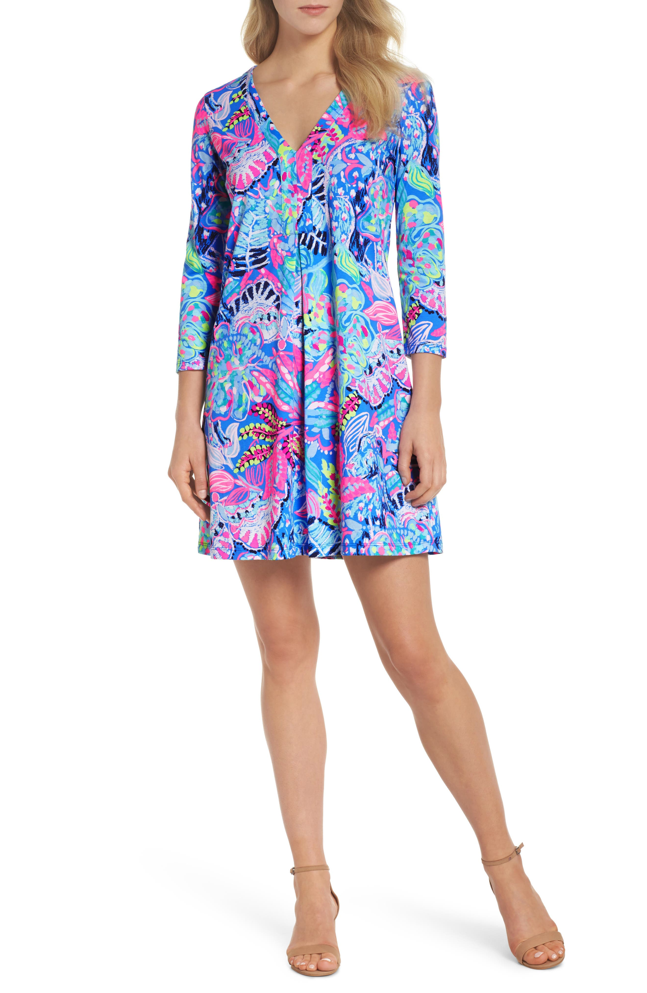 Amina Swing Dress,                         Main,                         color, Multi Fantasy Garden
