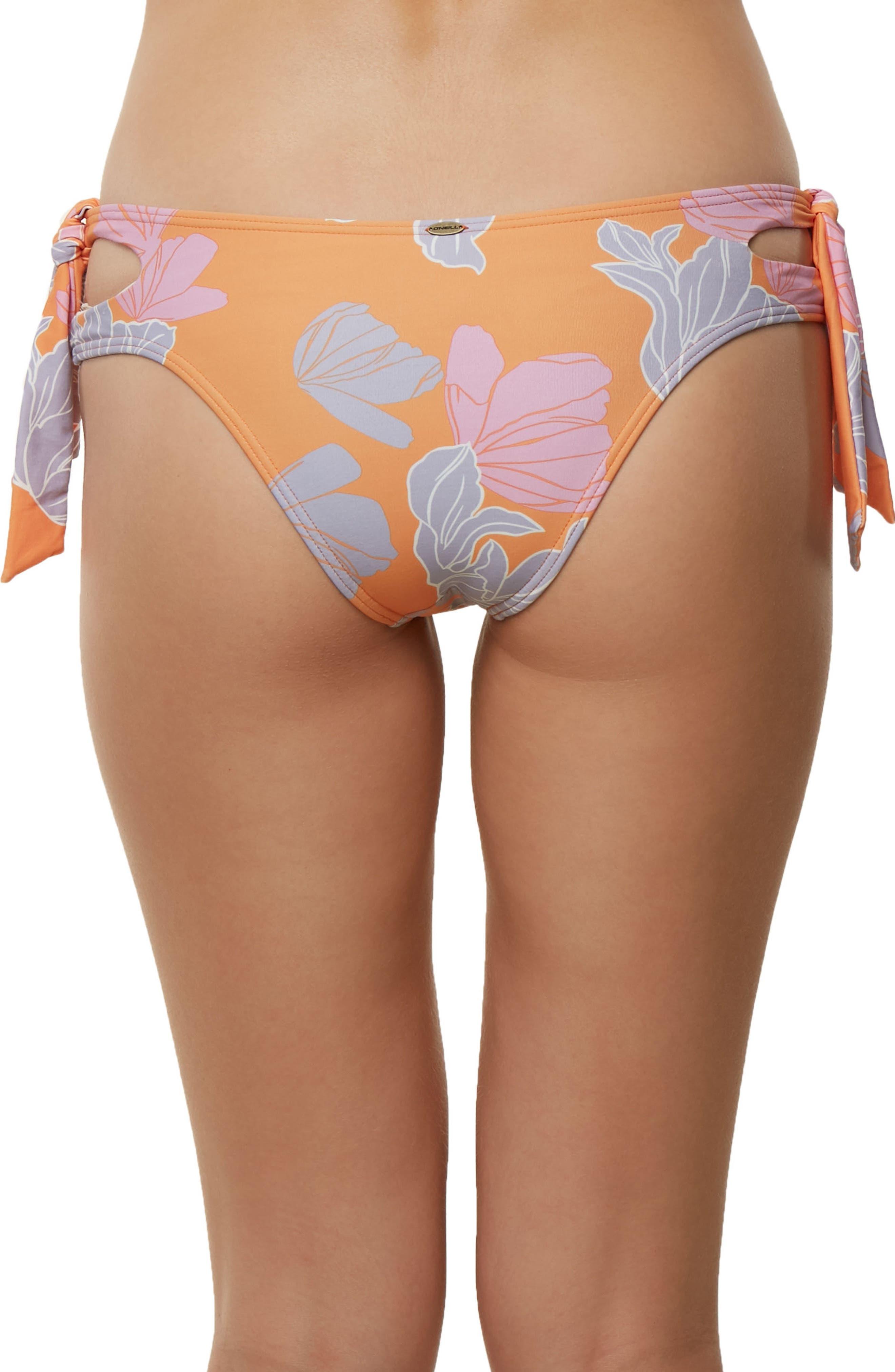 Zilla Side Tie Bikini Bottoms,                             Alternate thumbnail 2, color,                             Orange Multi