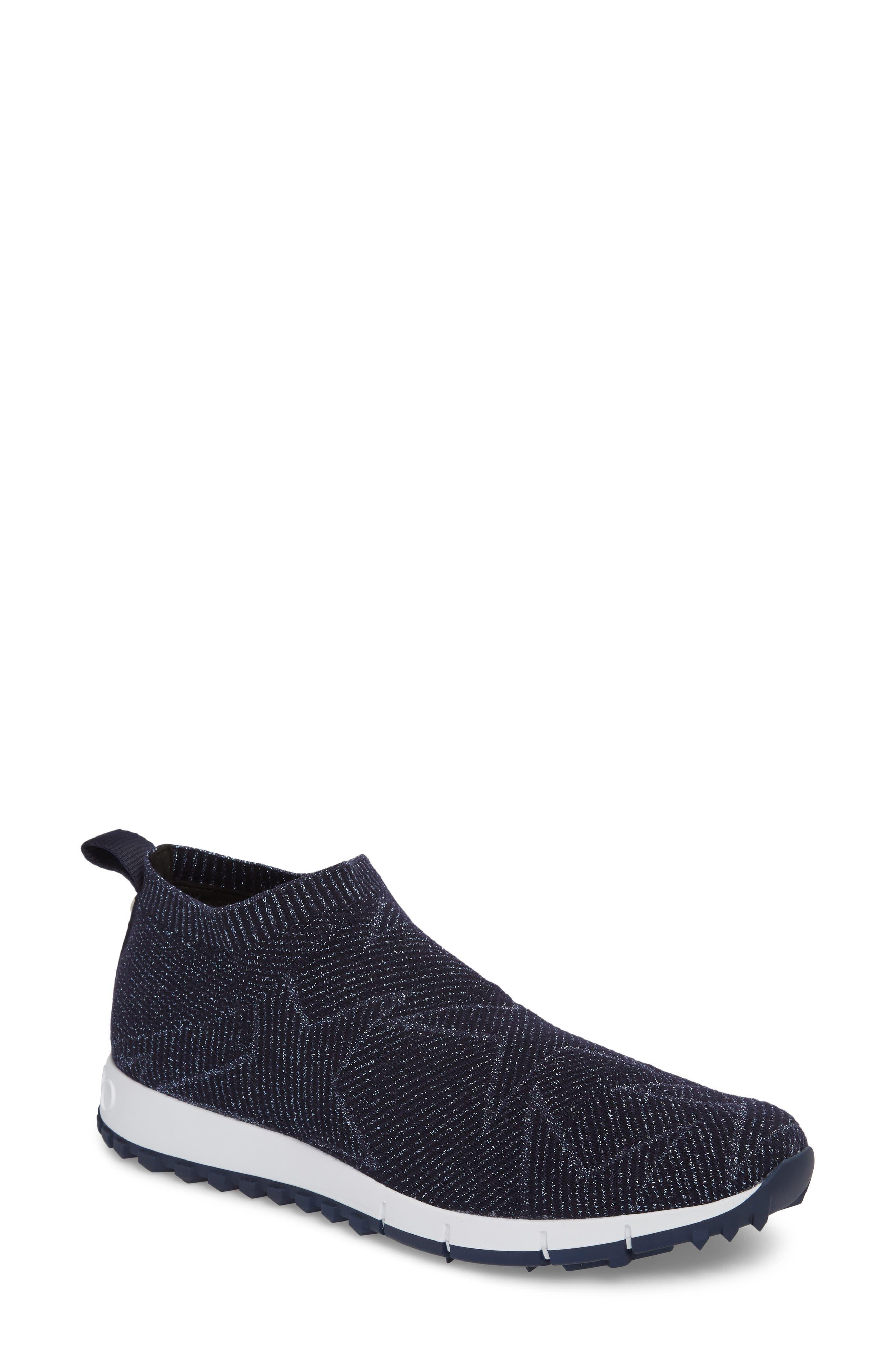 Norway Star Slip-On Sneaker,                             Main thumbnail 1, color,                             Navy