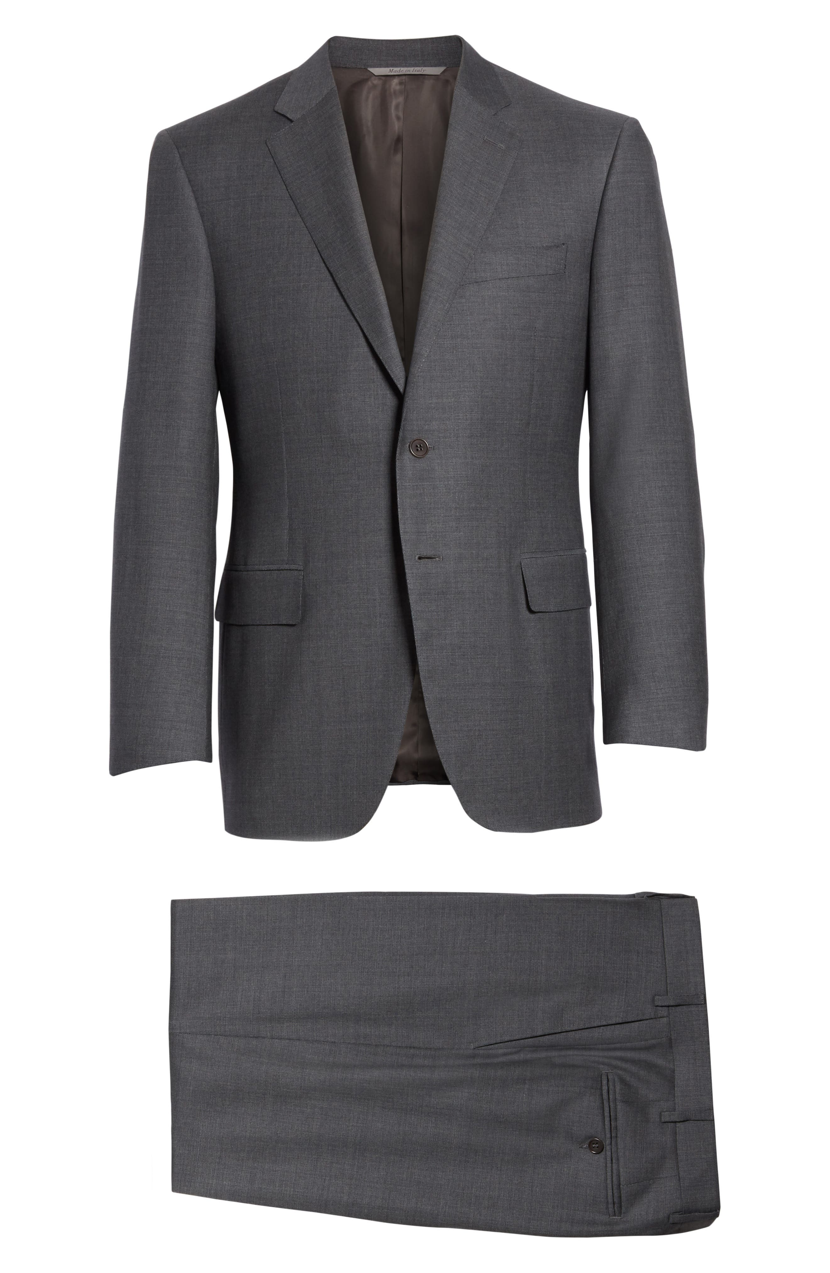 Classic Fit Wool Suit,                             Alternate thumbnail 8, color,                             Grey
