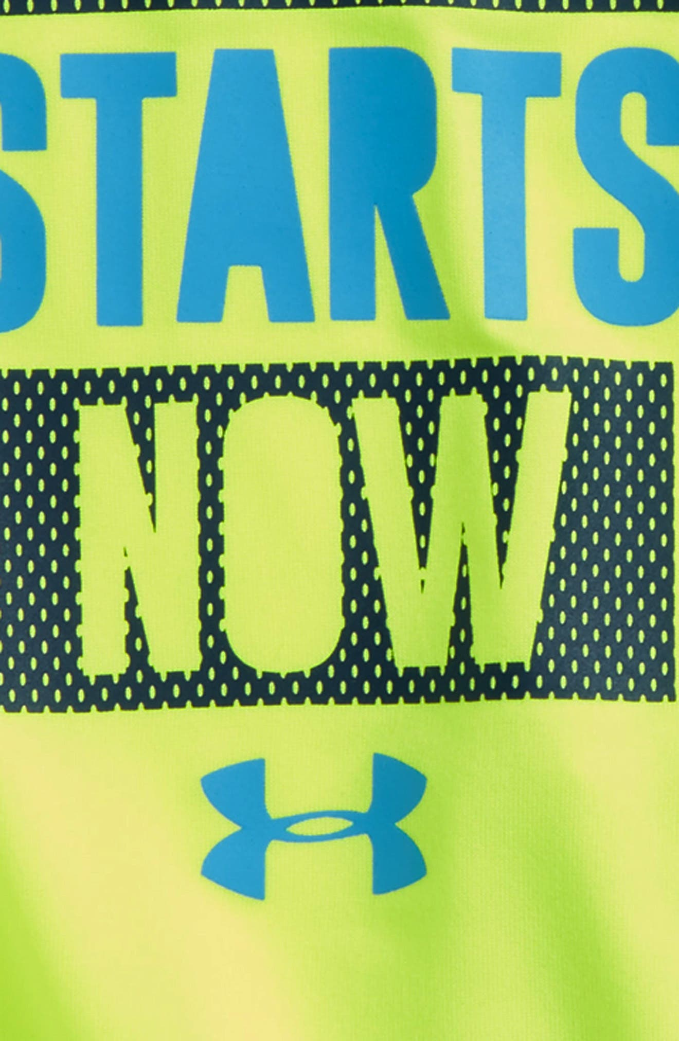 The Training Starts Now T-Shirt & Shorts Set,                             Alternate thumbnail 2, color,                             Green/ Yellow