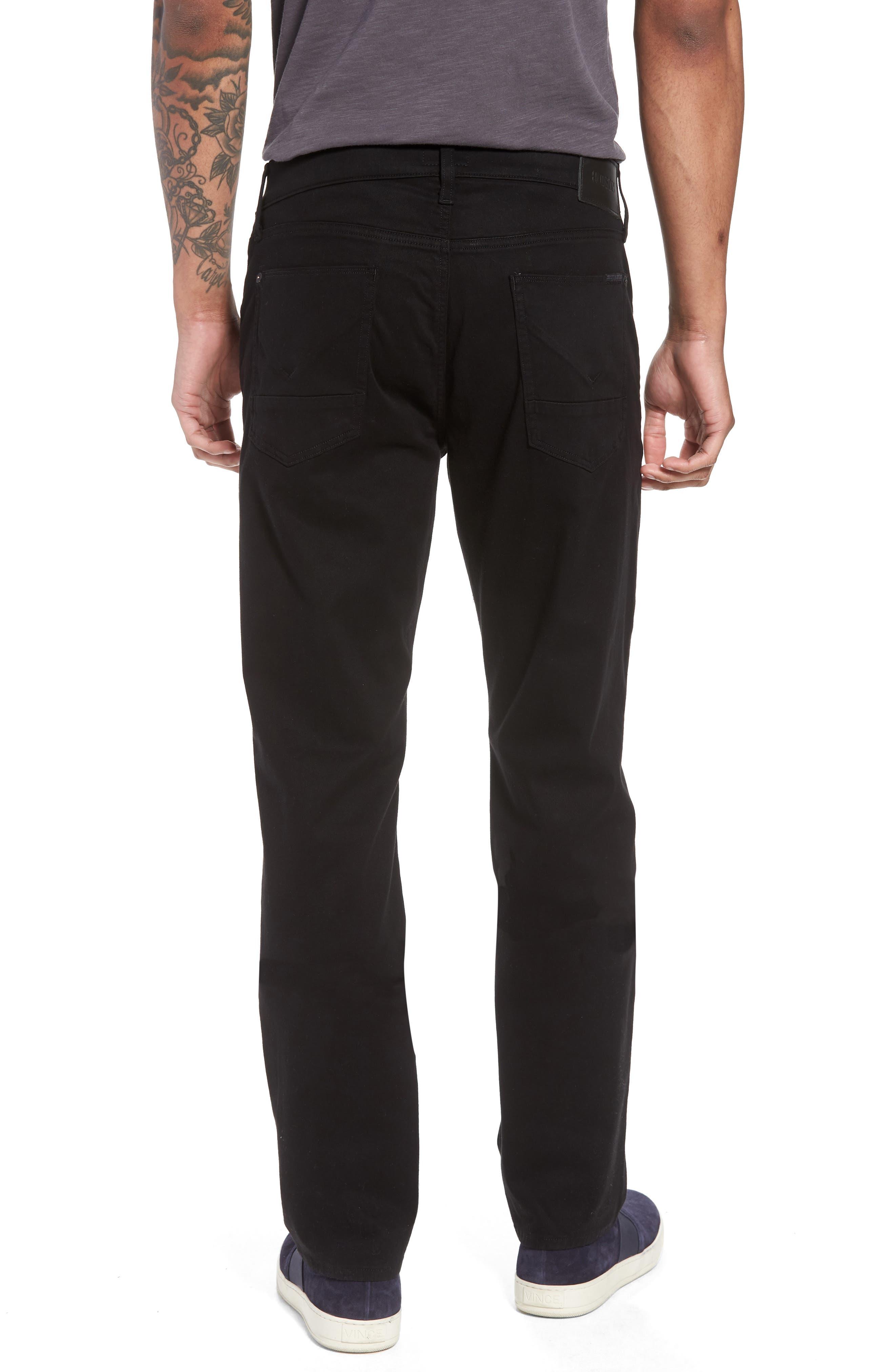 Byron Slim Straight Leg Jeans,                             Alternate thumbnail 2, color,                             Blackened