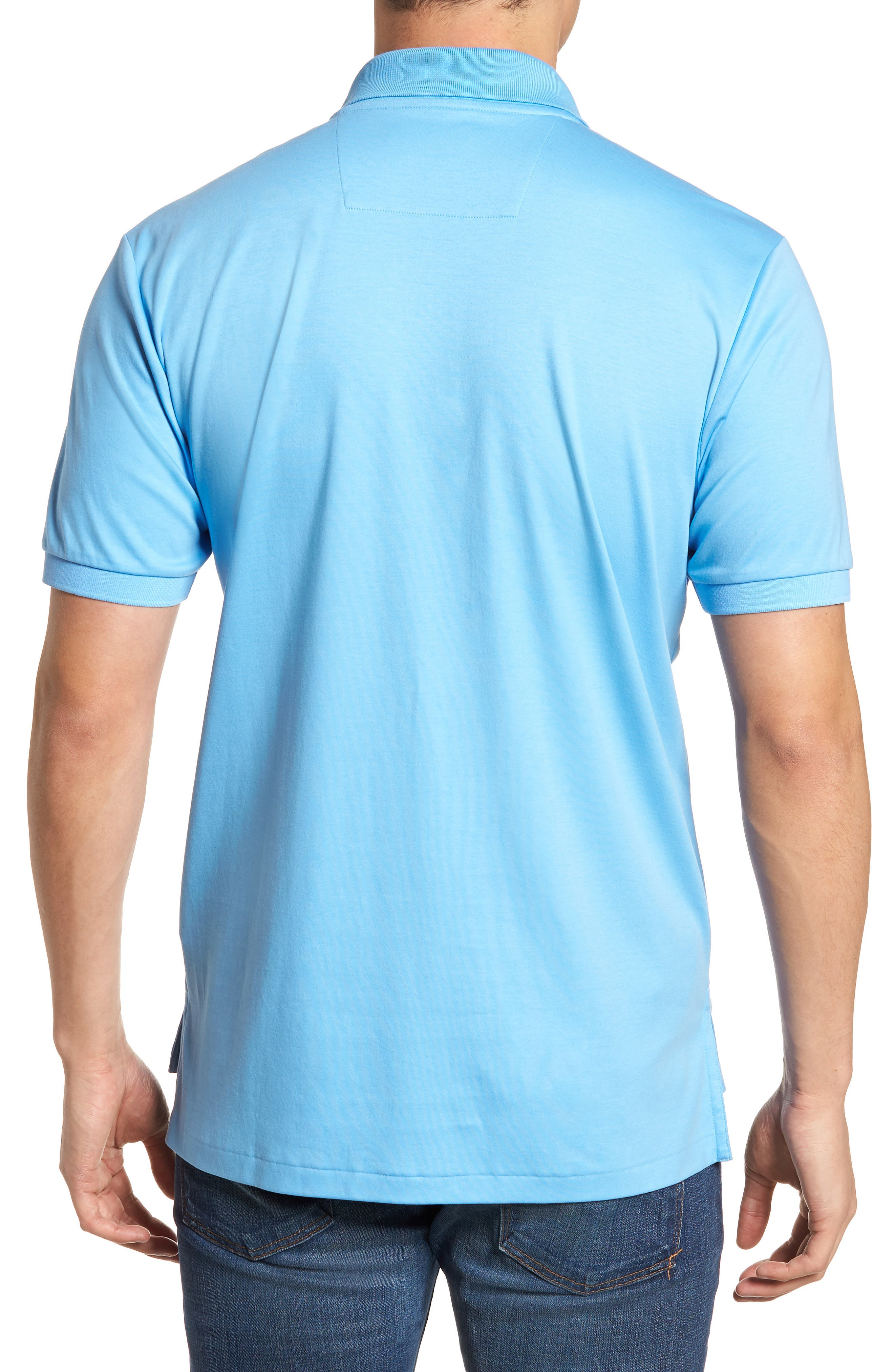 Sugar Mill Jersey Polo,                             Alternate thumbnail 2, color,                             Ocean Channel