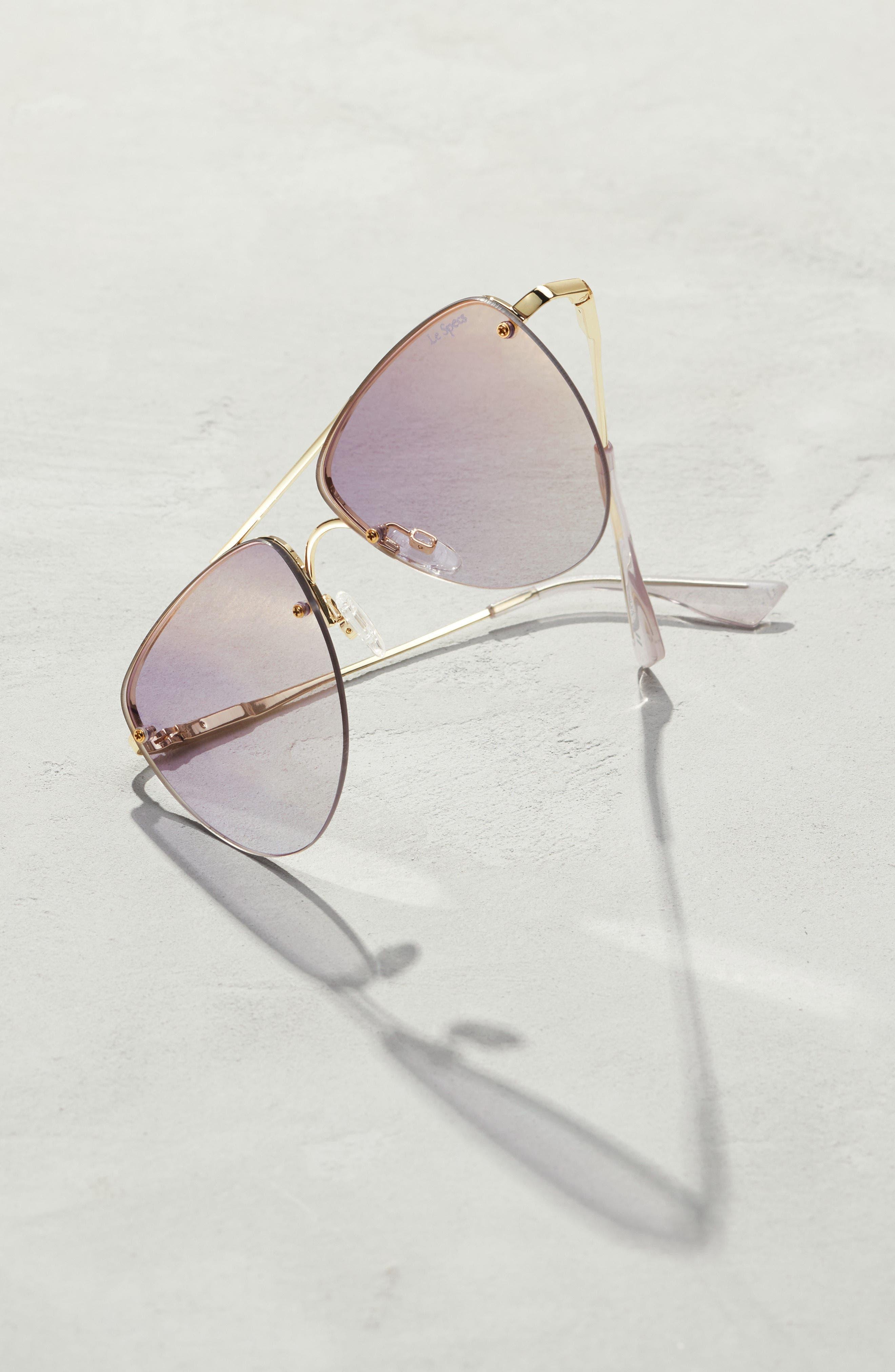 The Prince 57mm Aviator Sunglasses,                             Alternate thumbnail 4, color,