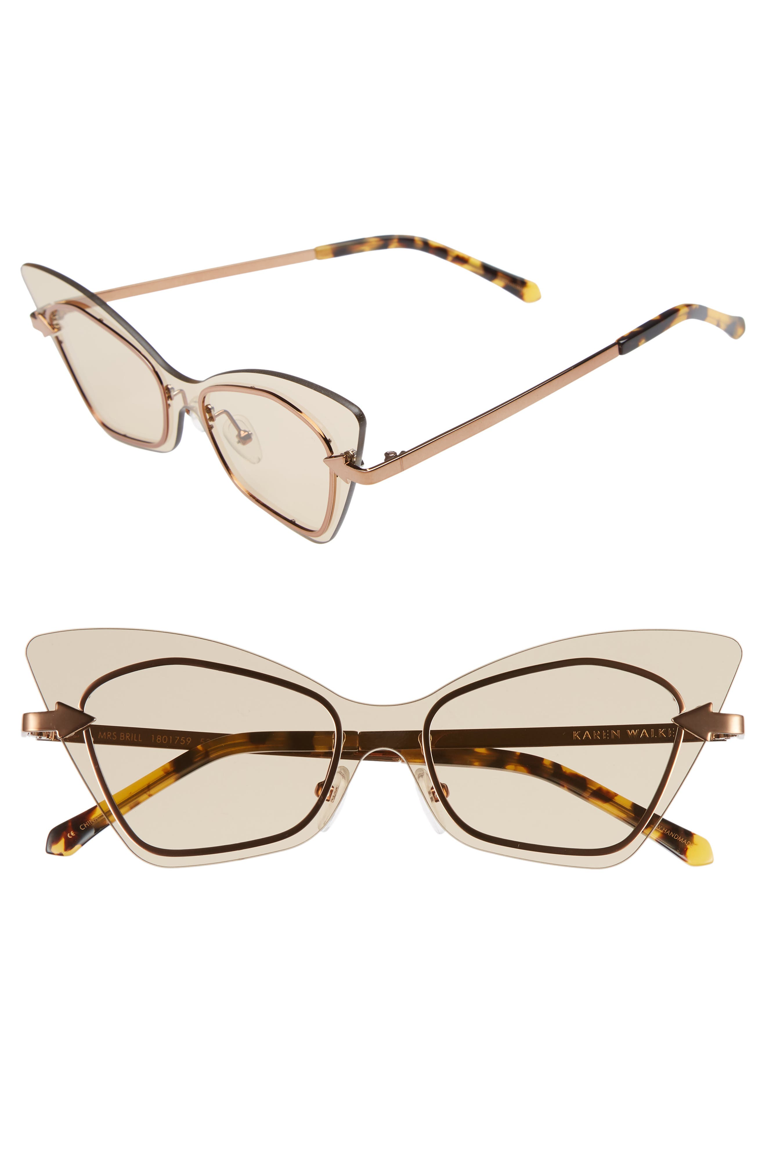 Mrs. Brill 53mm Cat Eye Sunglasses,                         Main,                         color, Crazy Tortoise