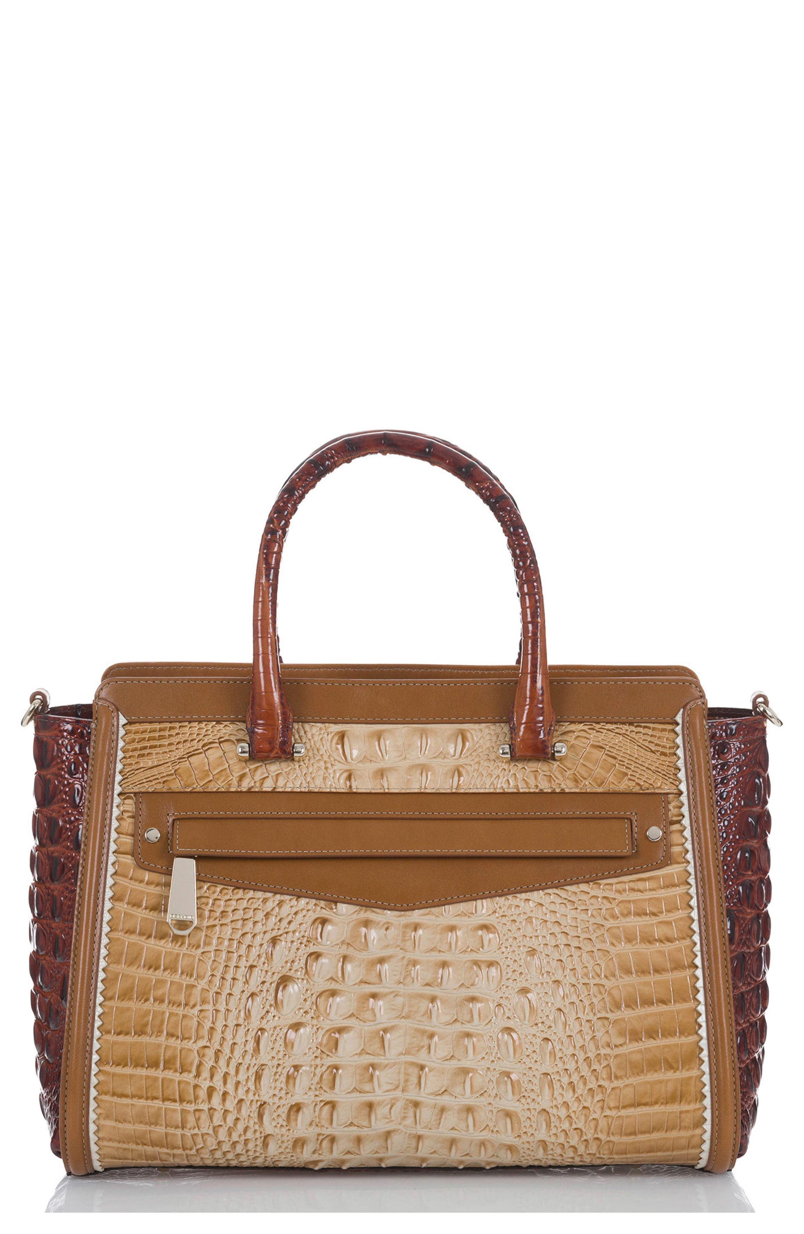 Harper Embossed Leather Satchel,                         Main,                         color, Chino Medina