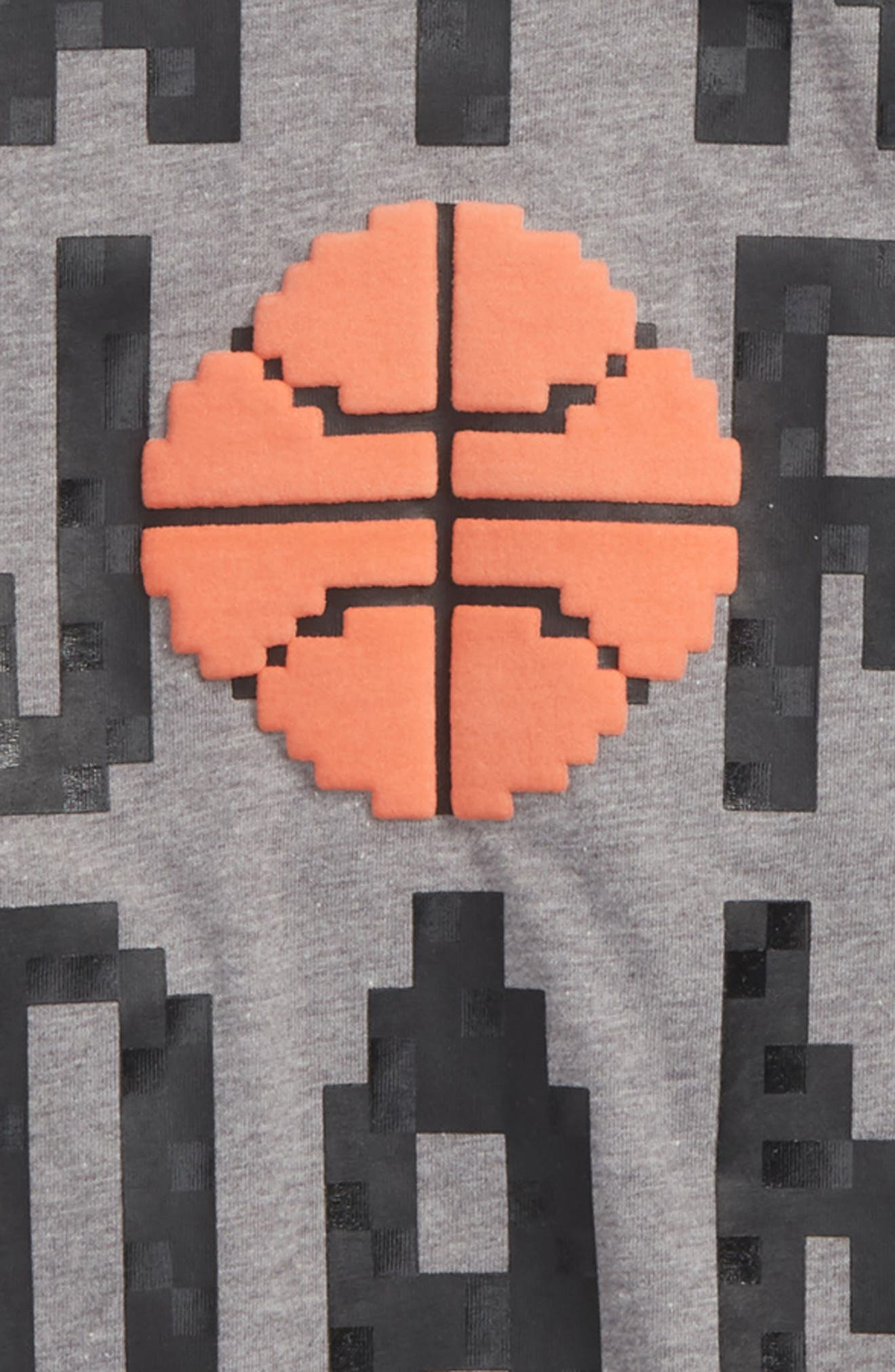 Jordan Pixel Pack Wordmark T-Shirt,                             Alternate thumbnail 2, color,                             Carbon Heather