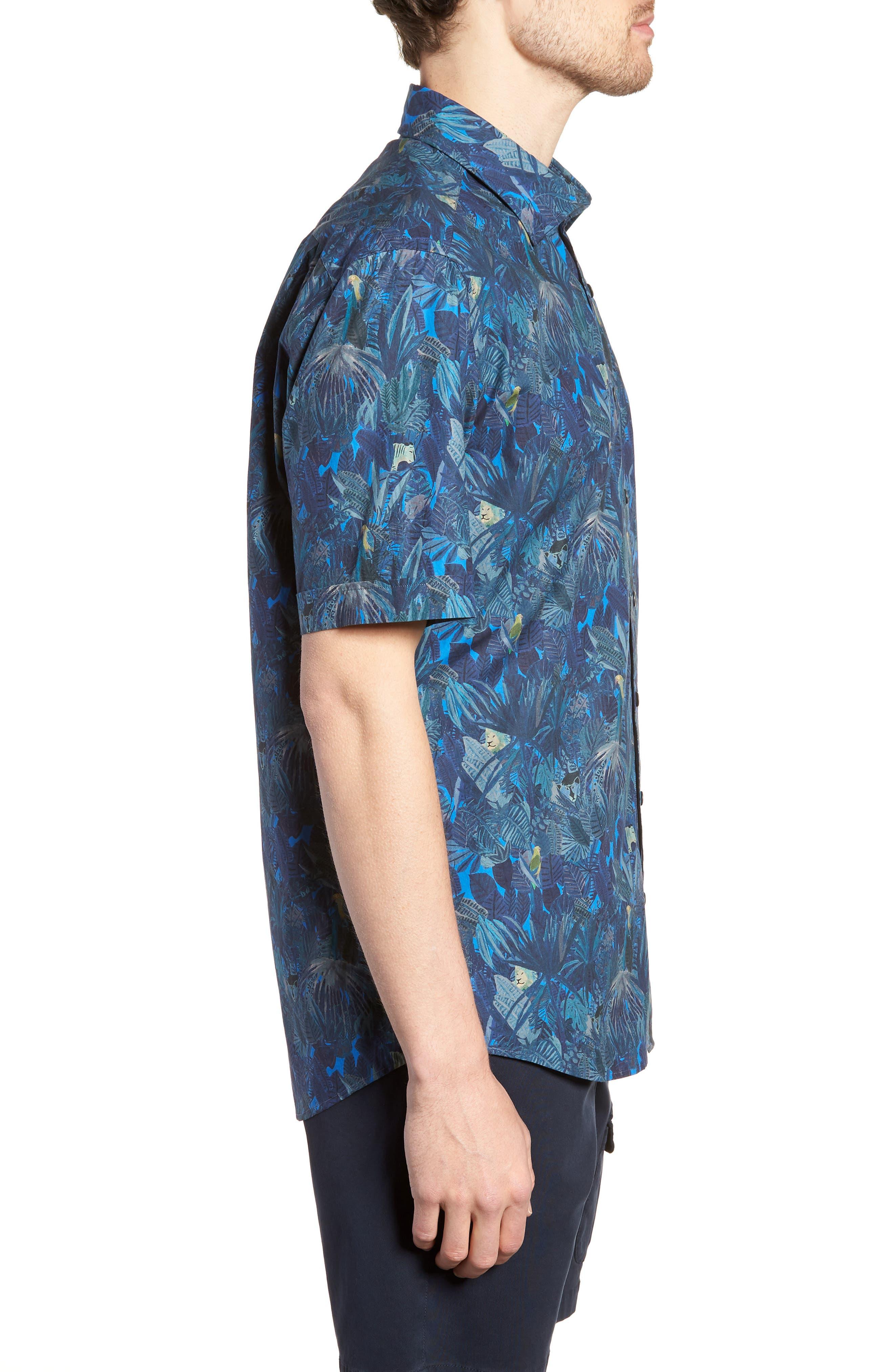 Alternate Image 4  - Rodd & Gunn Chedworth Slim Fit Print Sport Shirt