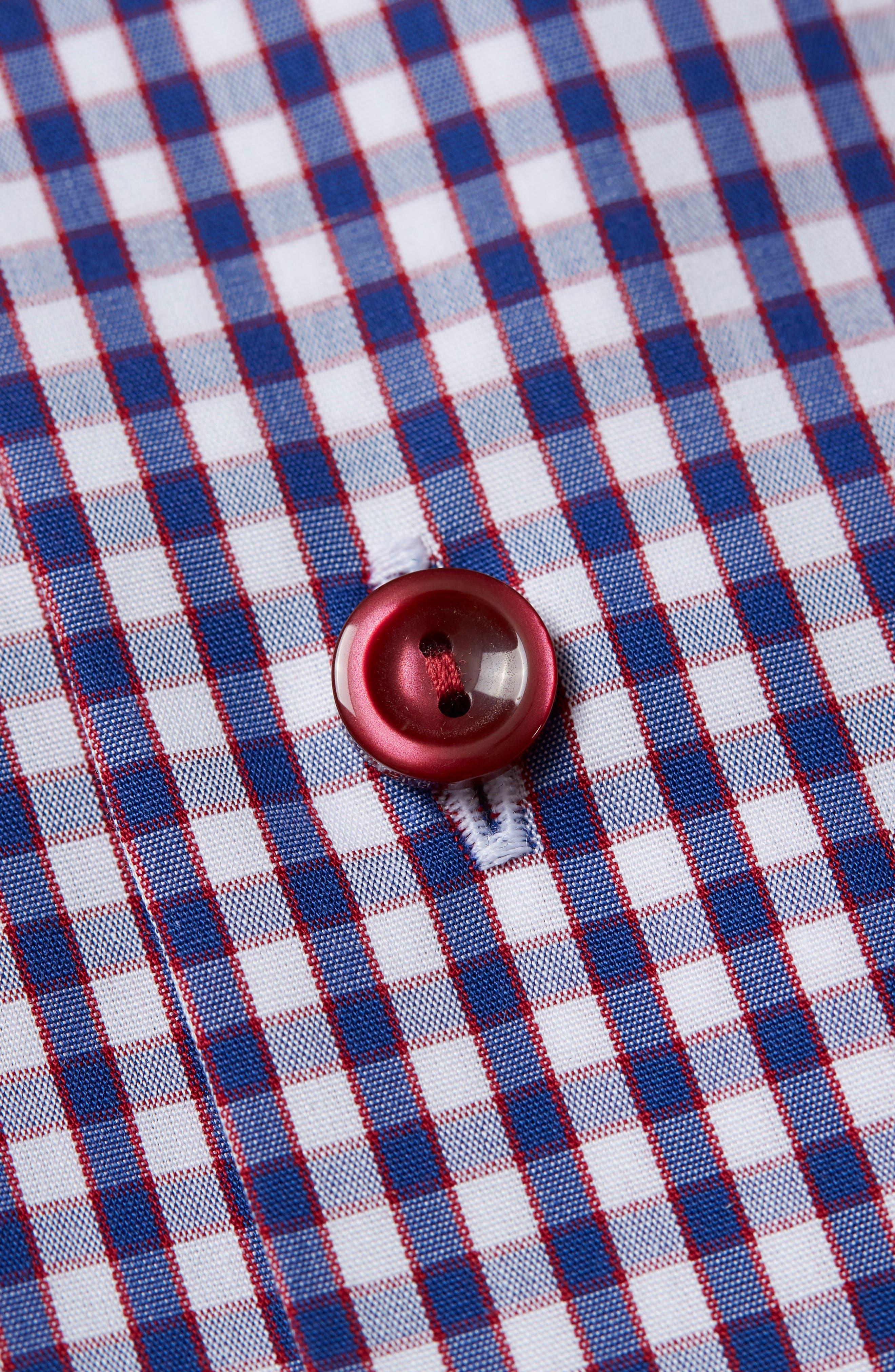 Contemporary Fit Check Dress Shirt,                             Alternate thumbnail 3, color,                             Navy