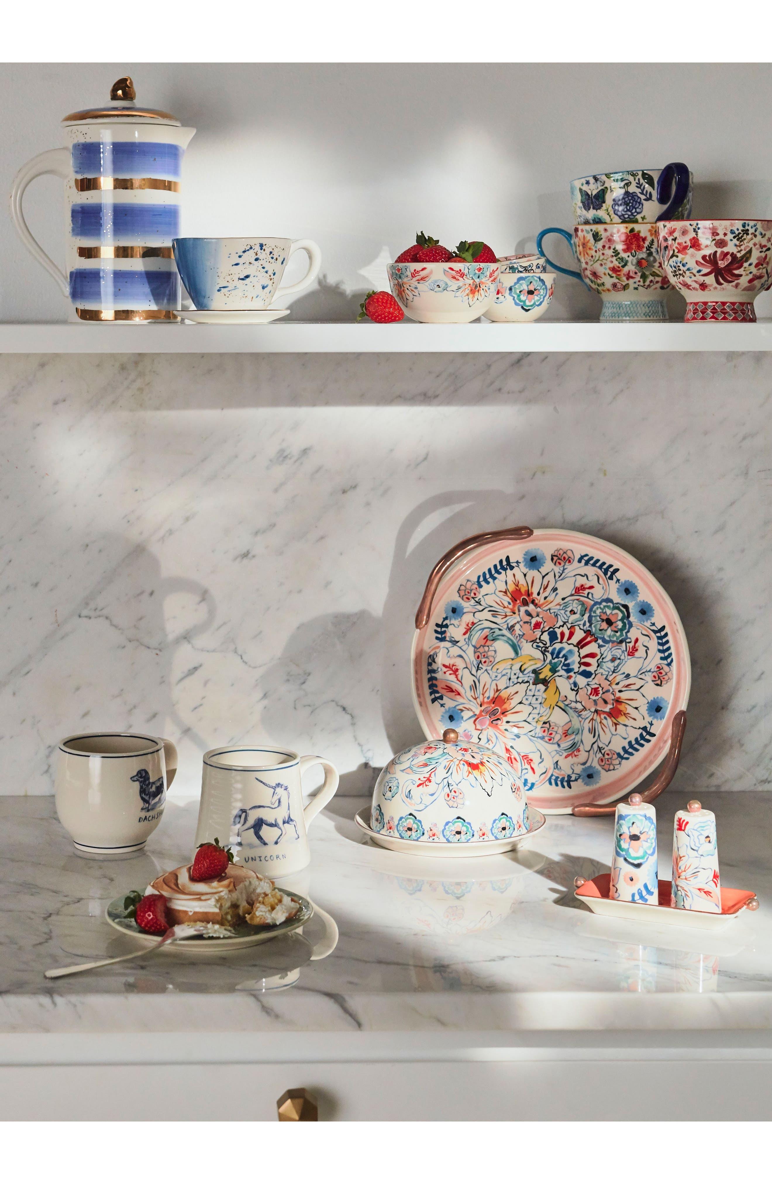Mimira Ceramic Pour-Over Coffeemaker,                             Alternate thumbnail 3, color,                             Blue Combo