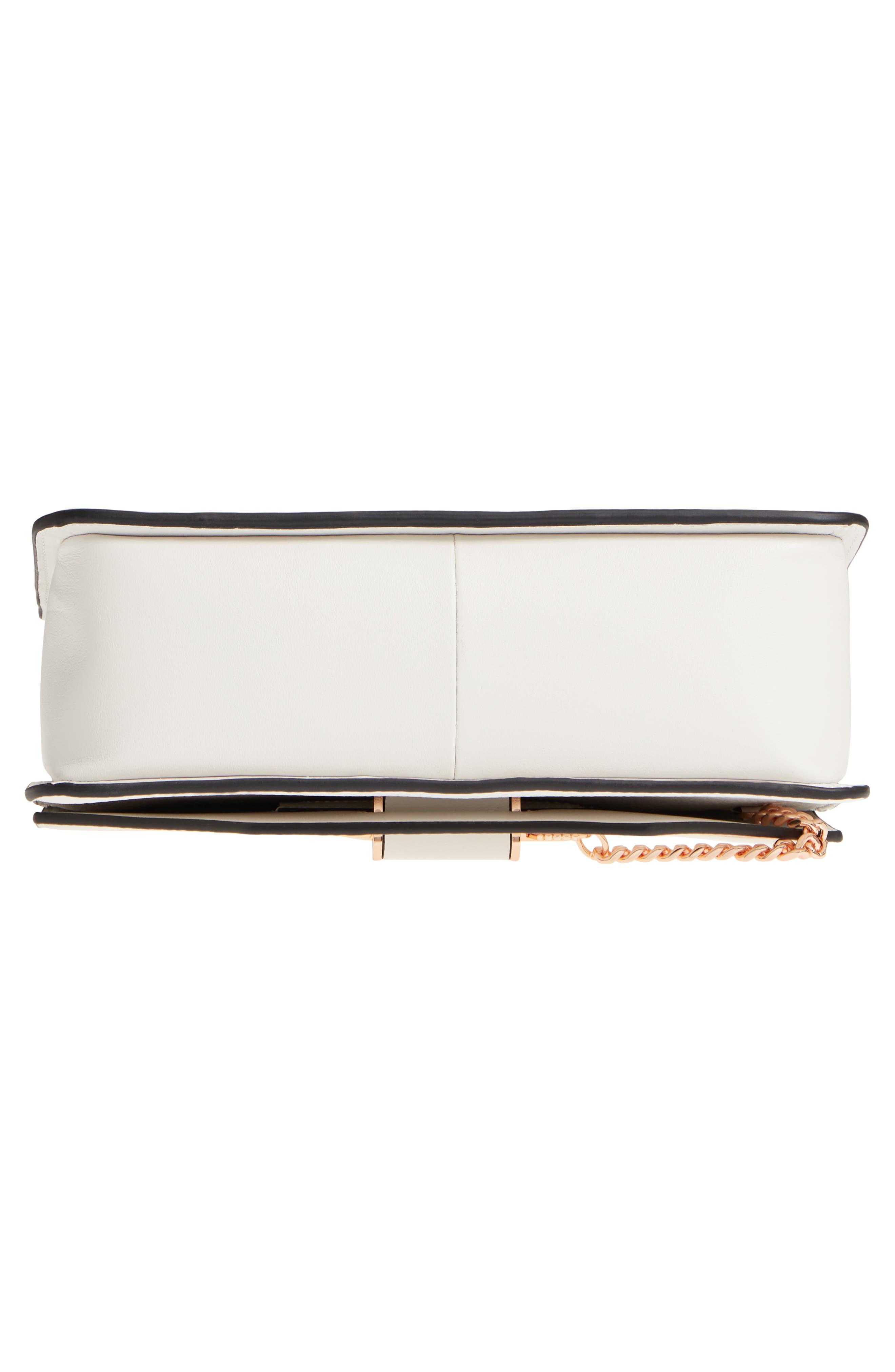 Cortney Nappa Leather Shoulder/Crossbody Bag,                             Alternate thumbnail 6, color,                             White/ Rose Gold