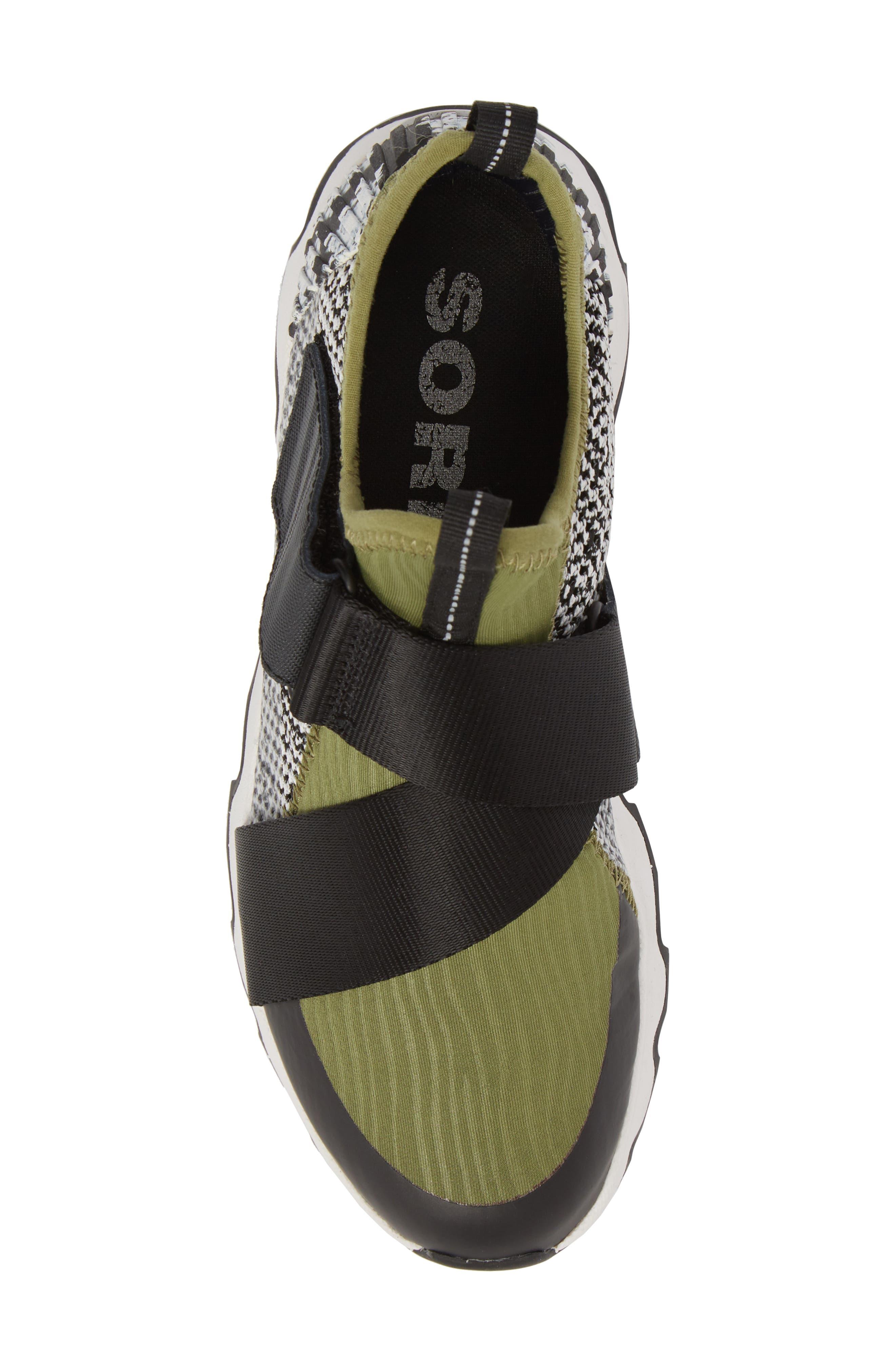 Kinetic Sneak High Top Sneaker,                             Alternate thumbnail 5, color,                             Olive Drab/ White