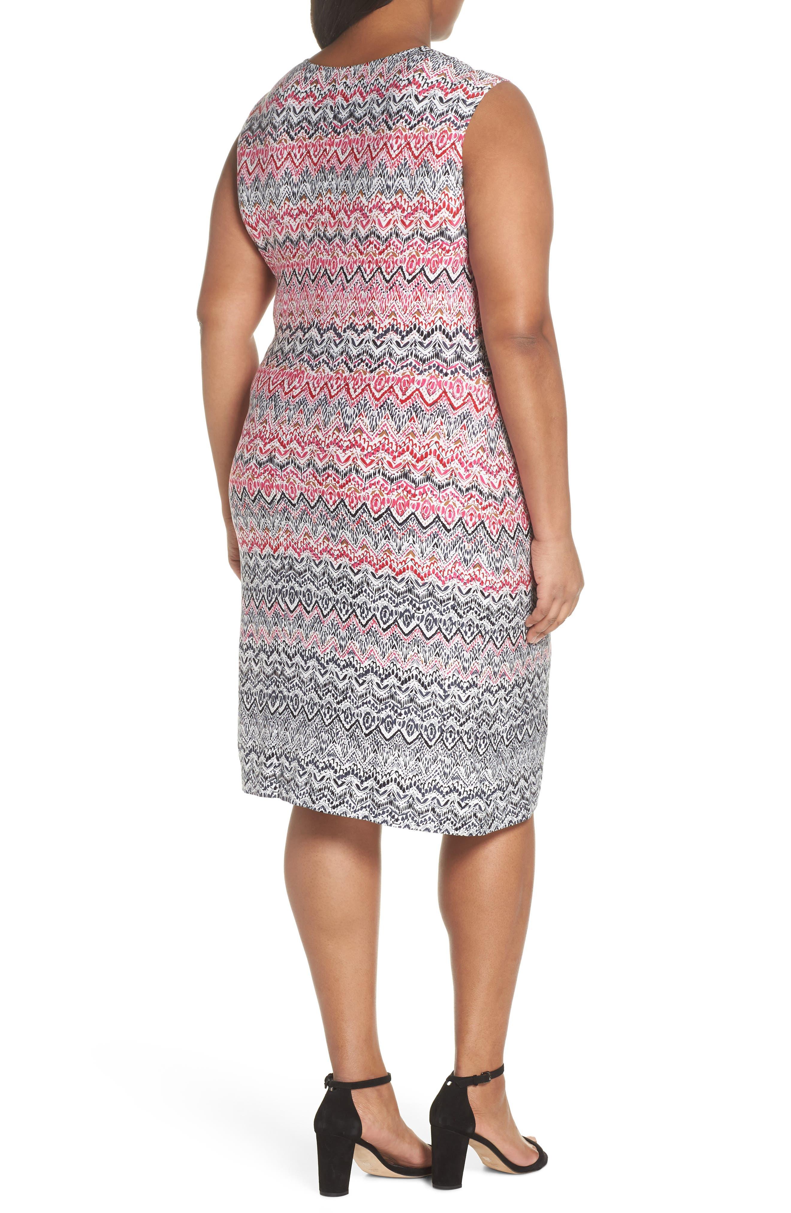 Spiced Up Twist Sheath Dress,                             Alternate thumbnail 2, color,                             Multi