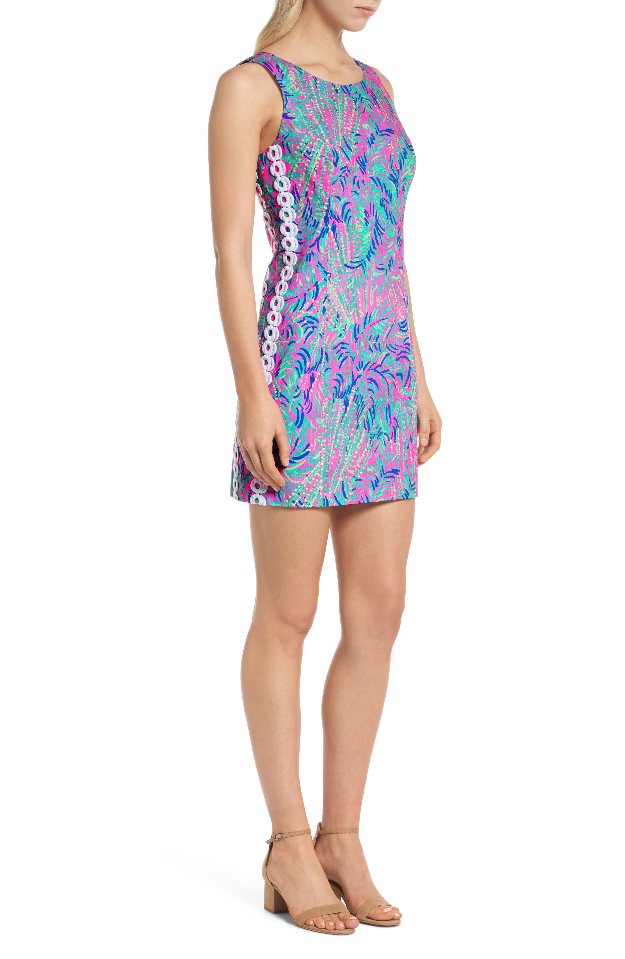 Mila Sheath Dress,                             Alternate thumbnail 3, color,                             Pink Sunset Coco Breeze