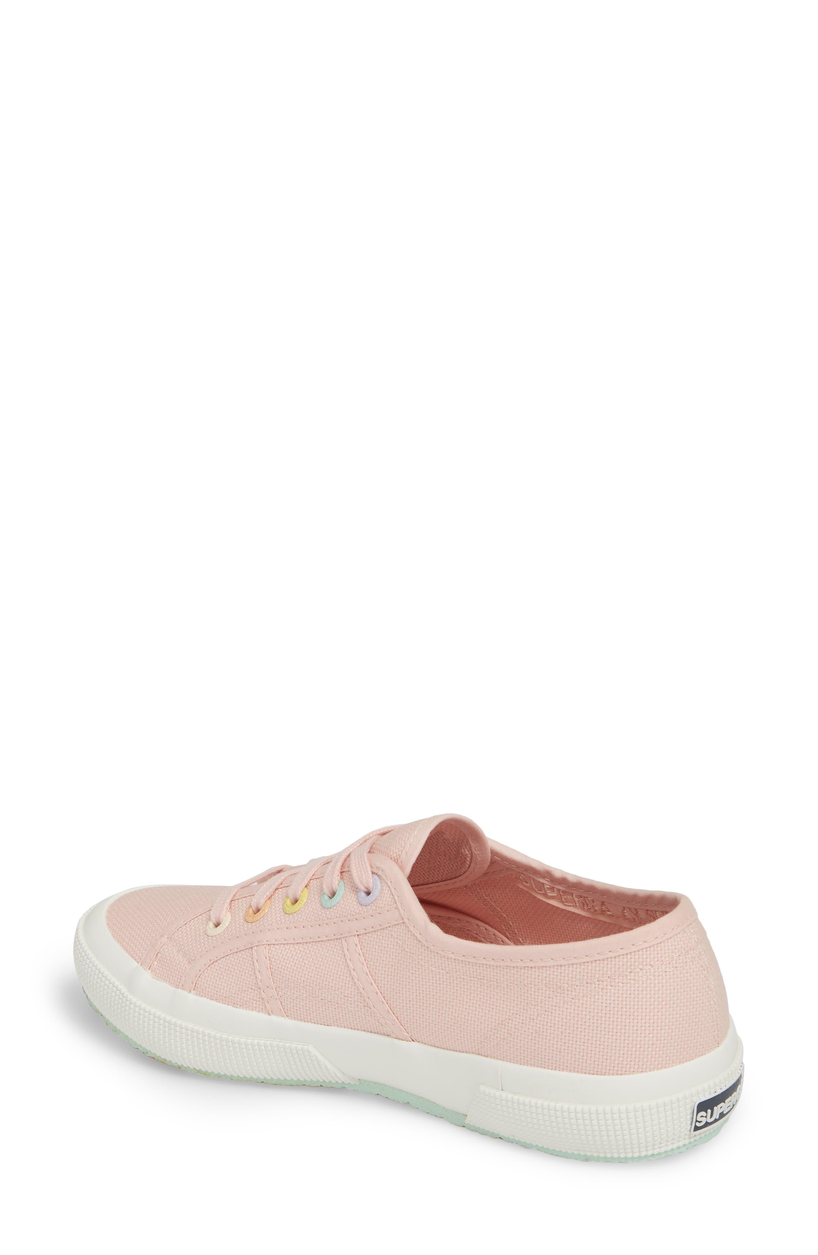 2750 Rainbow Sneaker,                             Alternate thumbnail 2, color,                             Light Pink