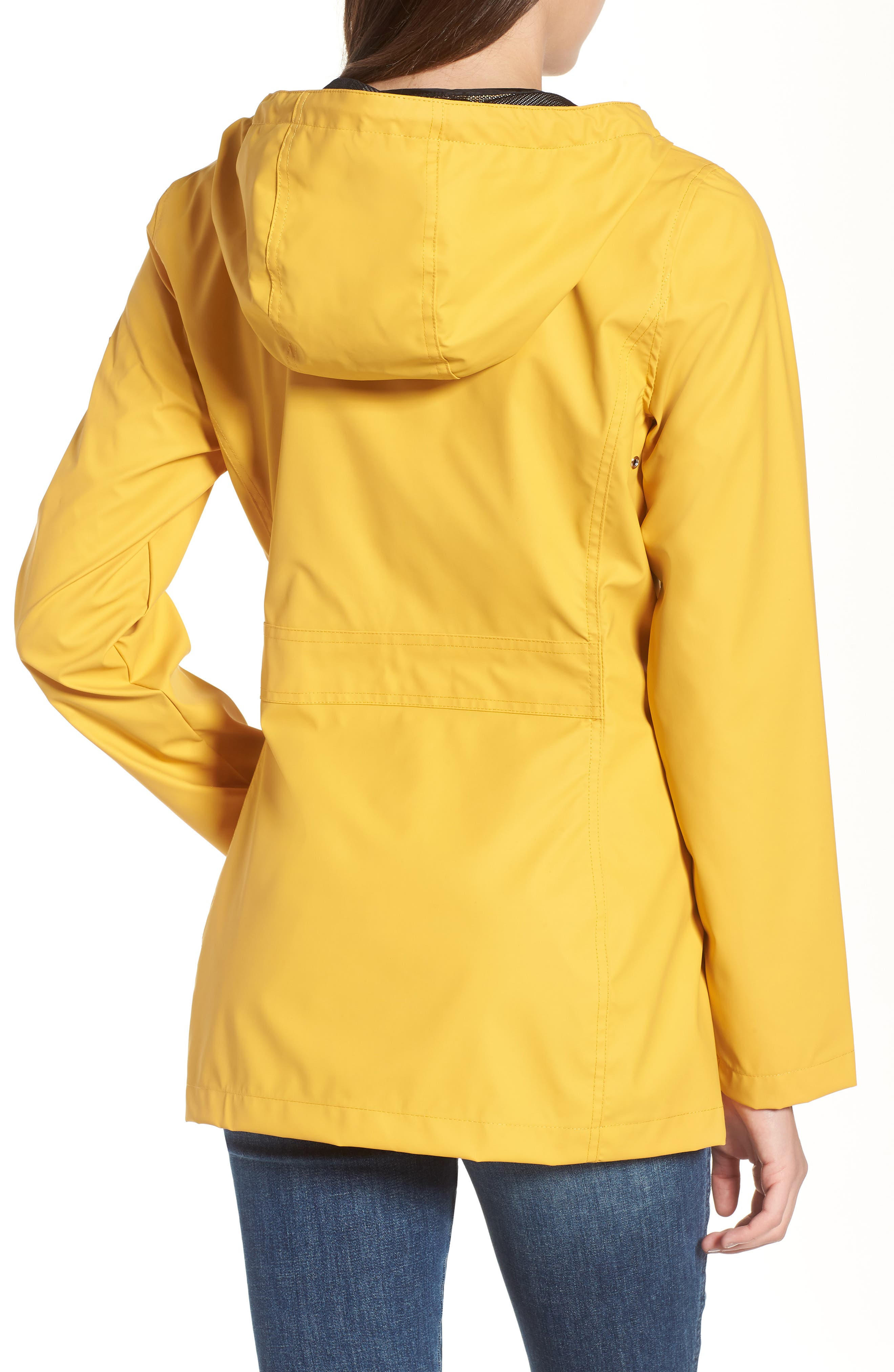 Hooded Raincoat,                             Alternate thumbnail 2, color,                             Yellow