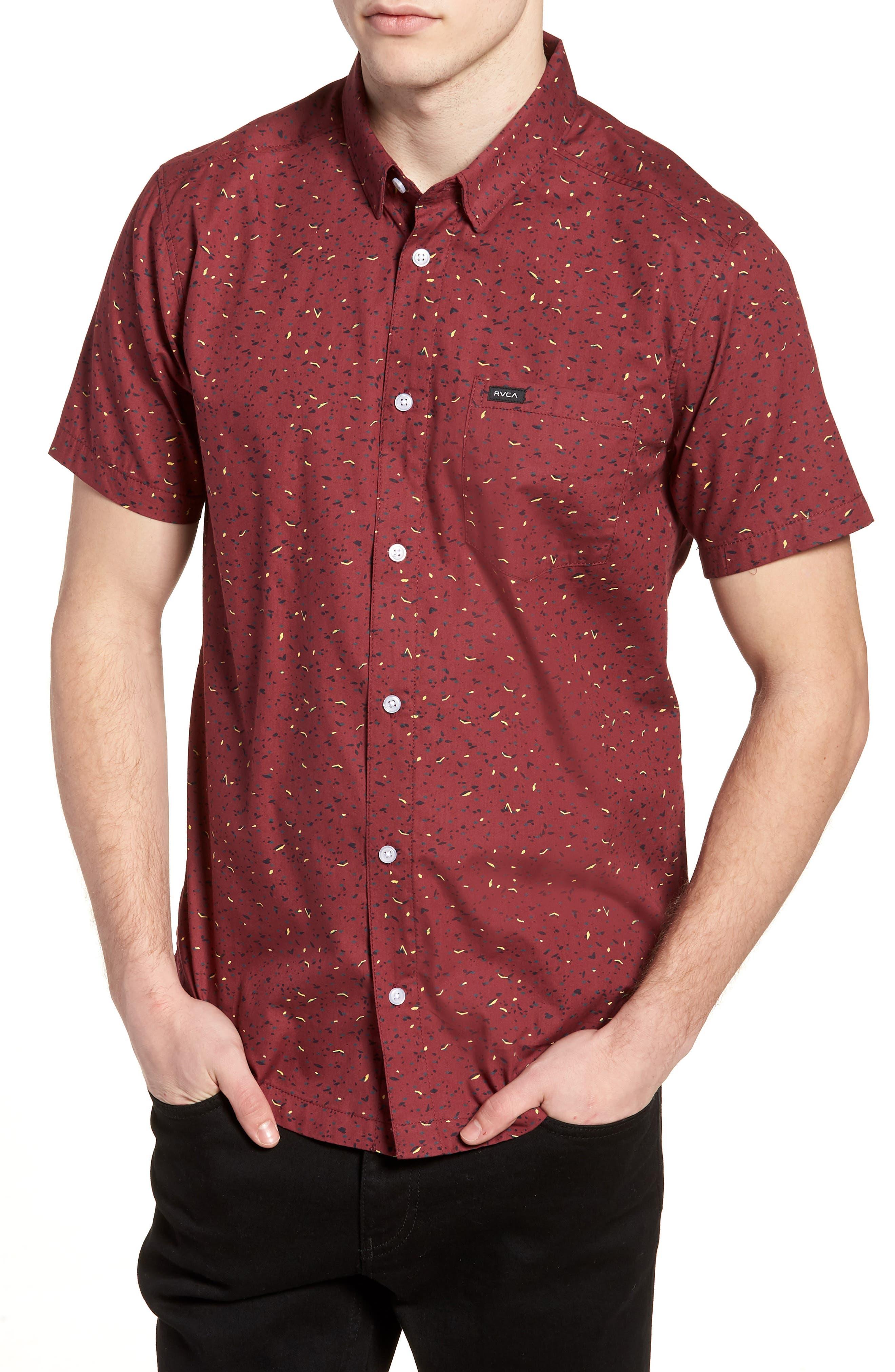 Jaded Woven Shirt,                             Main thumbnail 1, color,                             Tawny Port