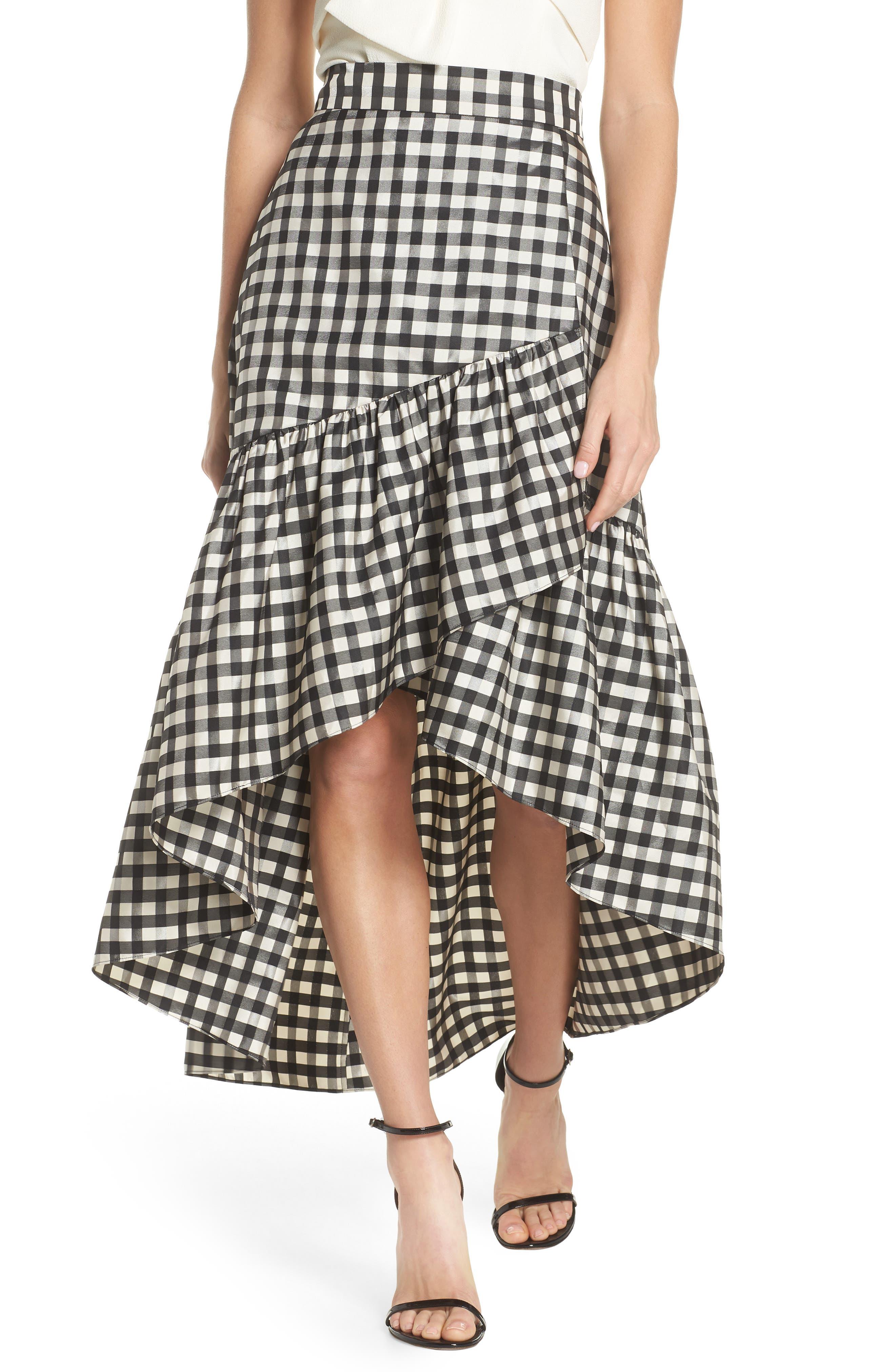 Eliza J Ruffle Asymmetrical Skirt