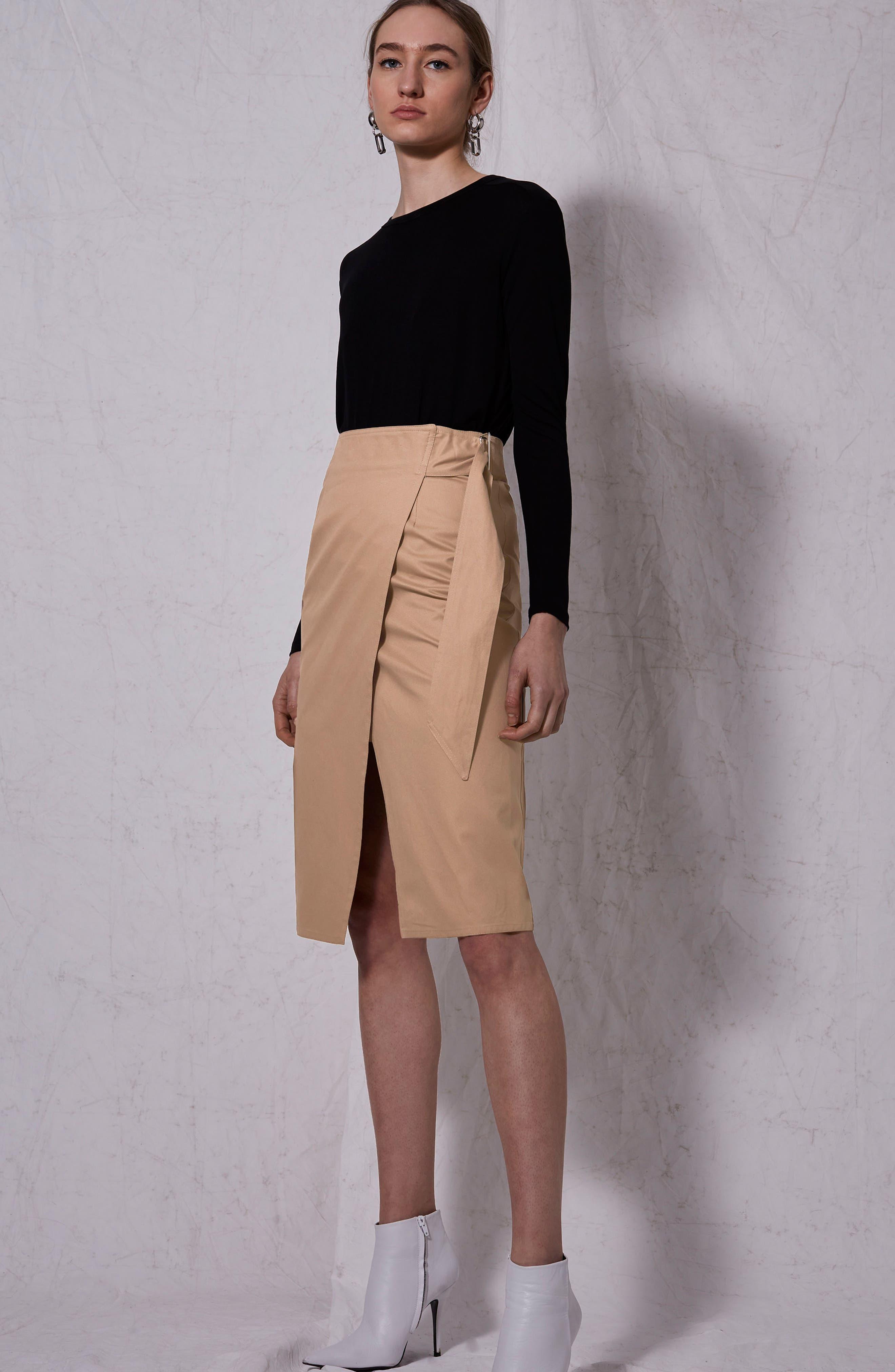 Boutique Utility Wrap Skirt,                             Alternate thumbnail 2, color,