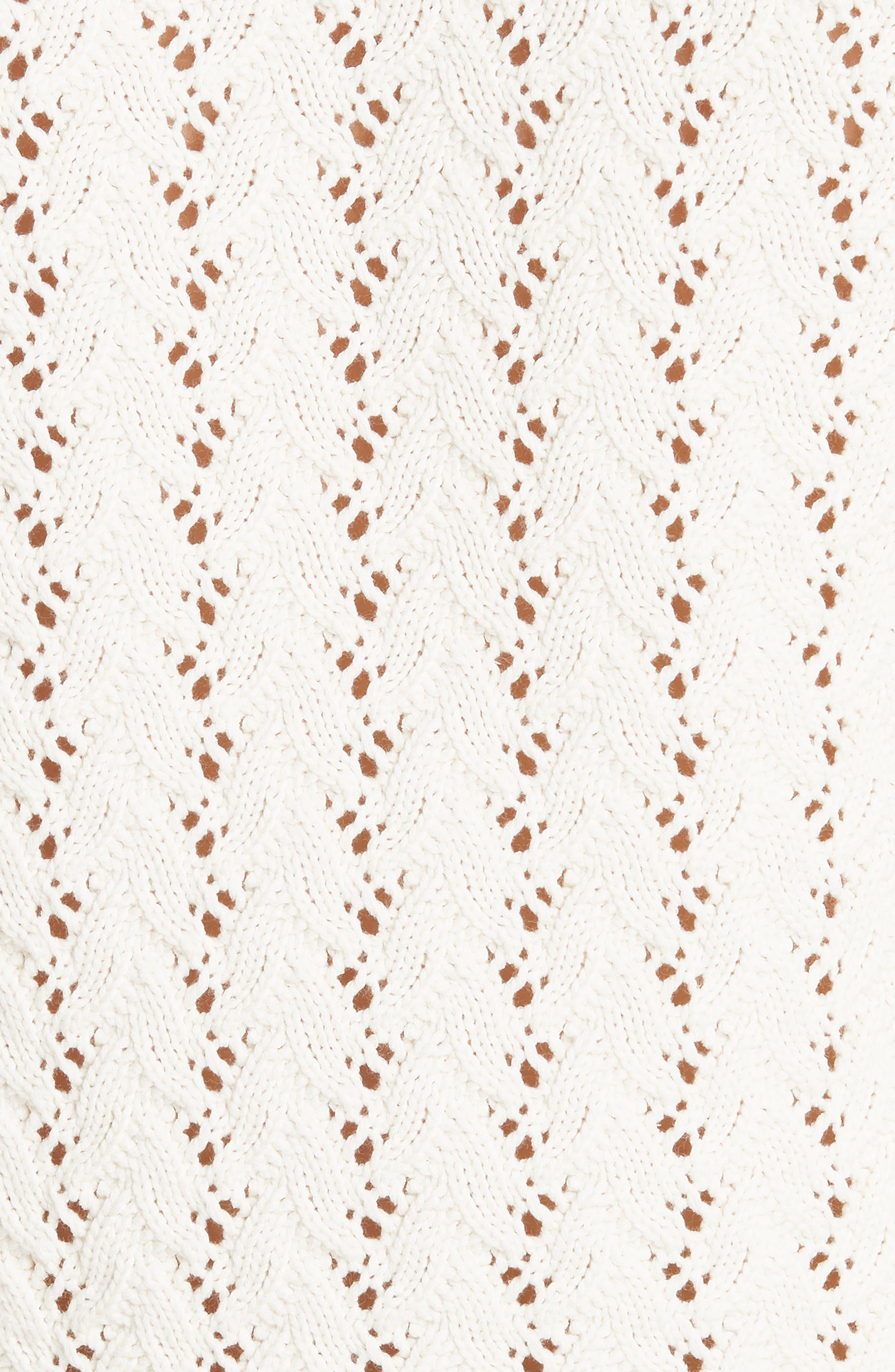Lace Yoke Knit Sweater,                             Alternate thumbnail 4, color,                             Naturel