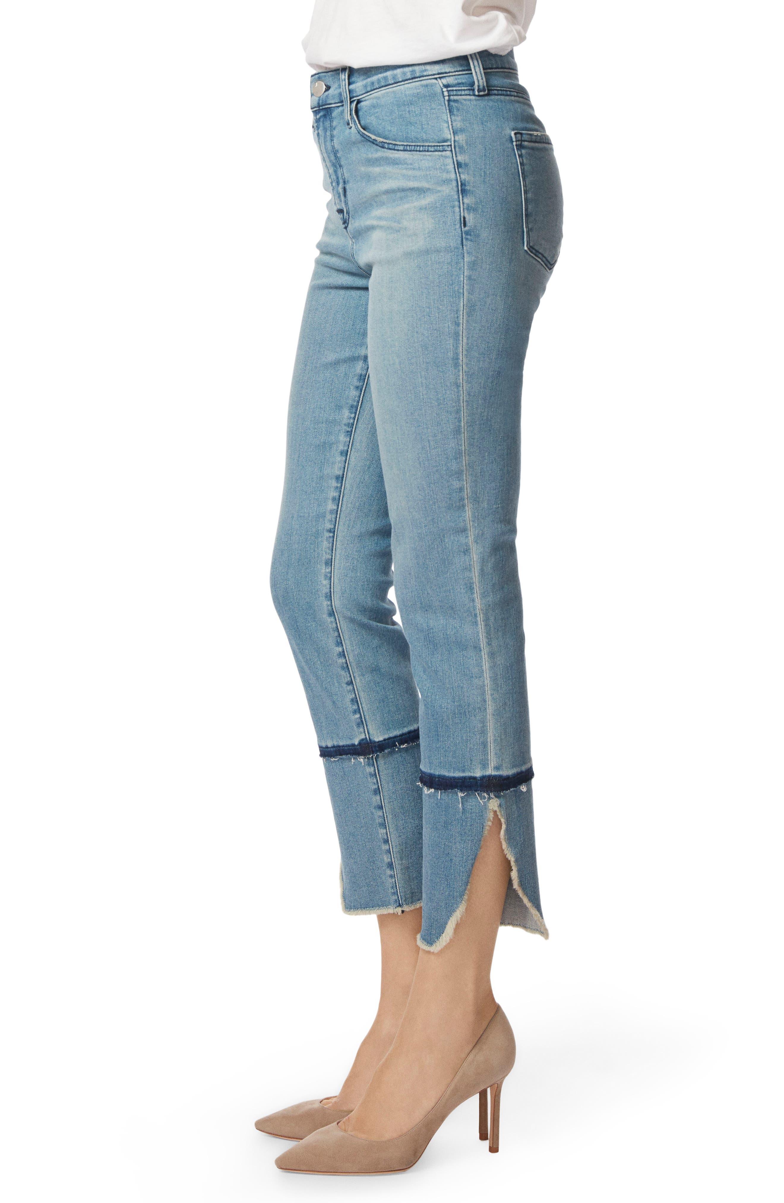 Ruby High Waist Crop Cigarette Jeans,                             Alternate thumbnail 3, color,                             Patriot