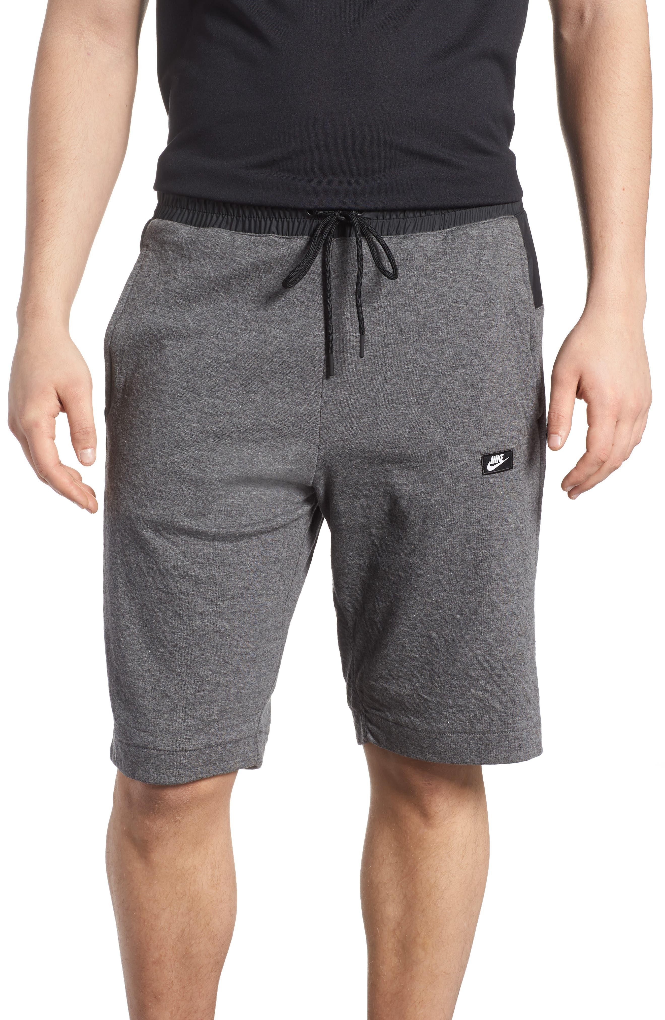 Sportswear Modern Shorts,                             Main thumbnail 1, color,                             Charcoal Heather/ Black
