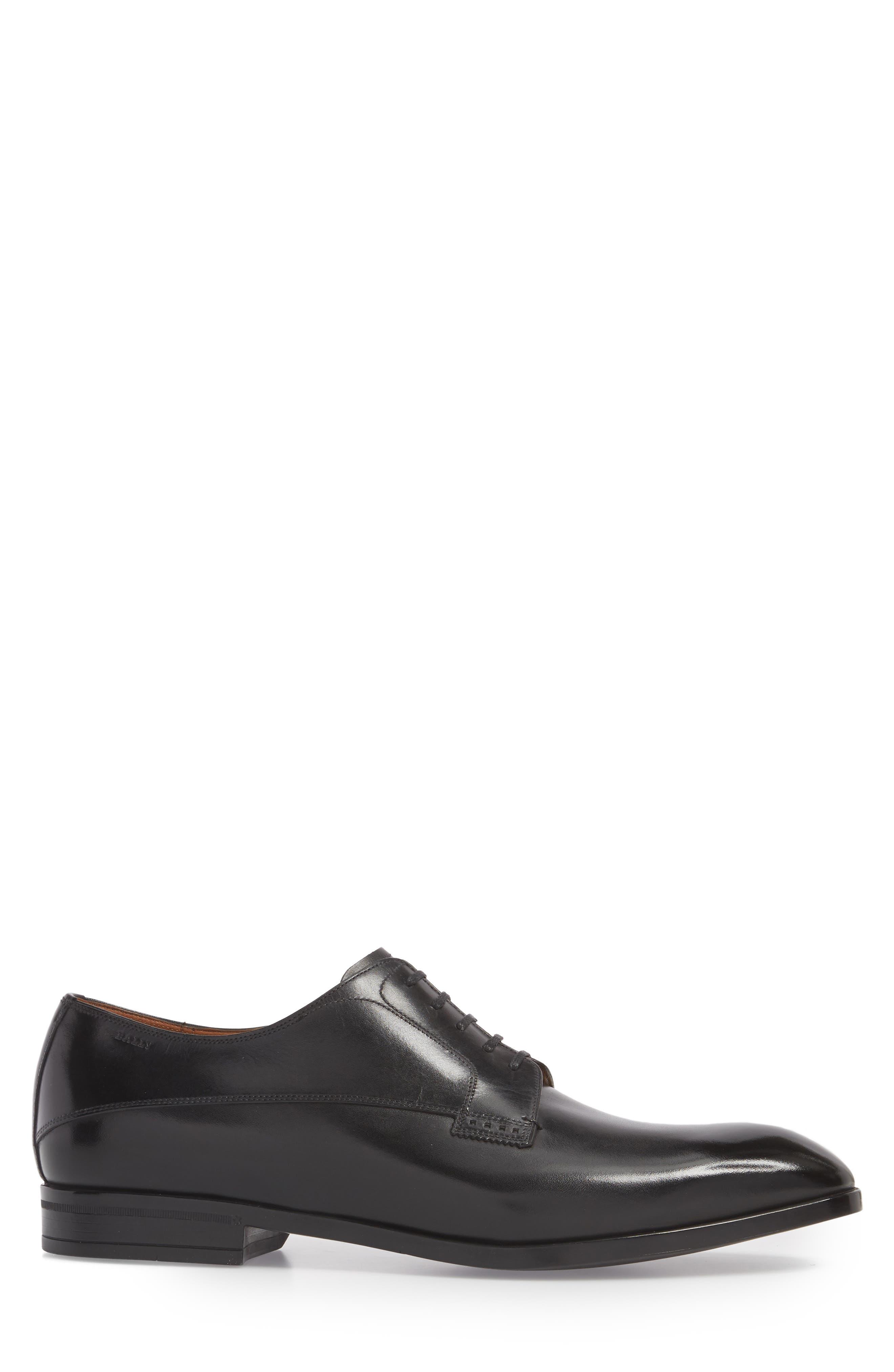 Lantel Plain Toe Derby,                             Alternate thumbnail 3, color,                             Black