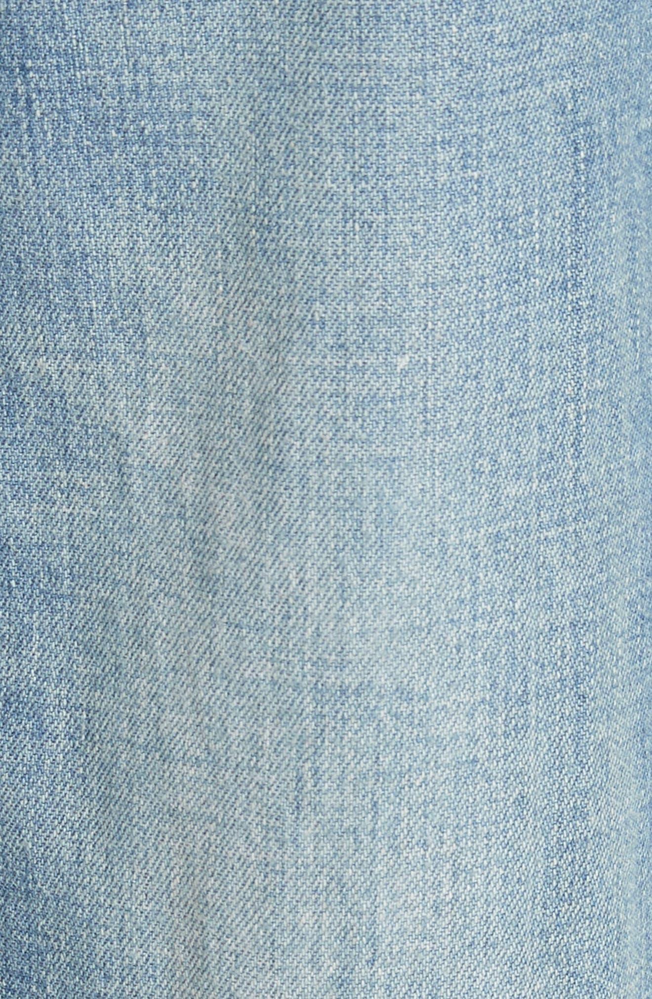 Drapey Denim Wide Leg Pants,                             Alternate thumbnail 5, color,                             Riviera Wash
