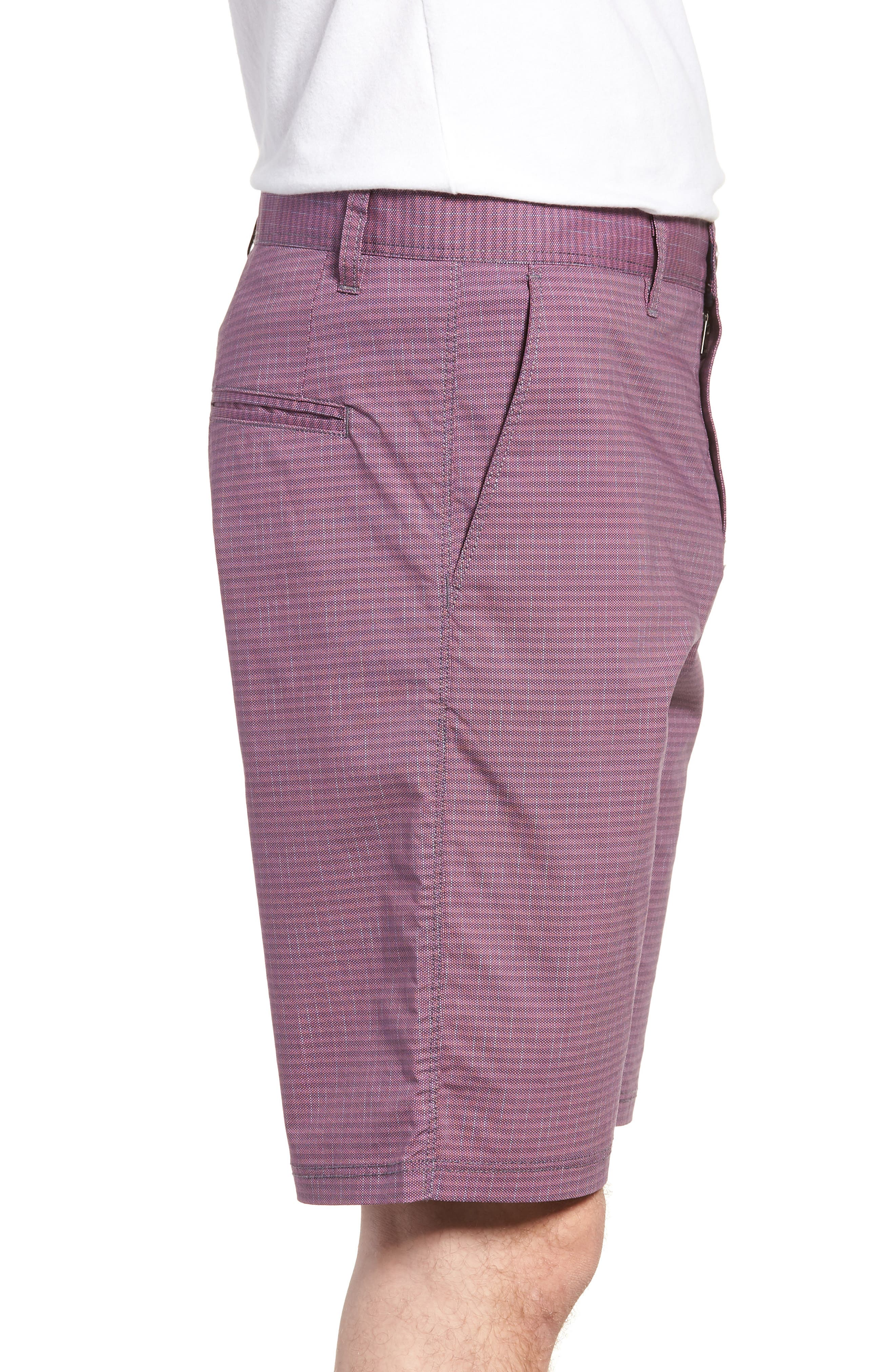 Textured Stretch Shorts,                             Alternate thumbnail 3, color,                             Pink