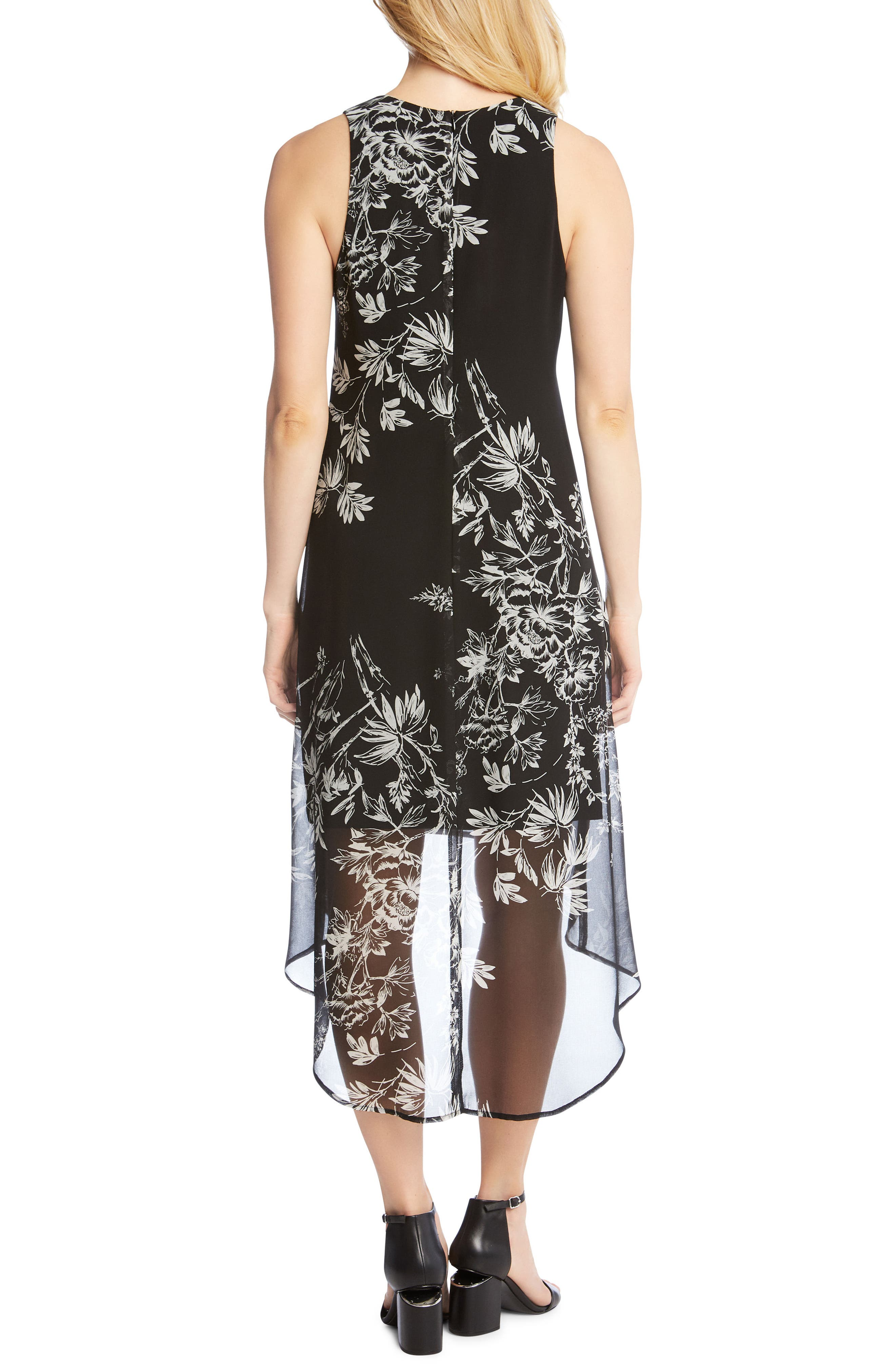 Sketched Floral Dress,                             Alternate thumbnail 2, color,                             Print
