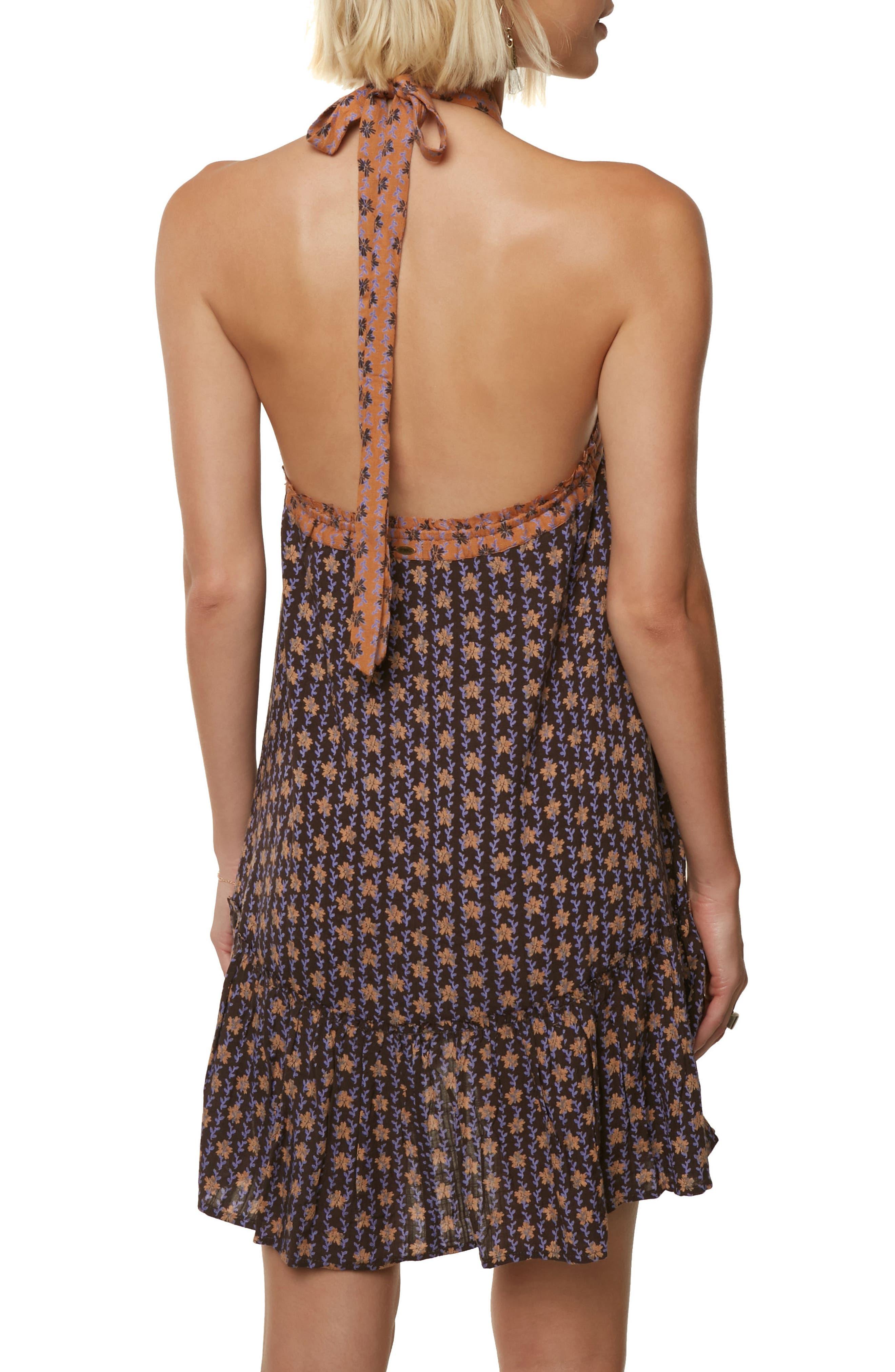Laila Halter Neck Dress,                             Alternate thumbnail 2, color,                             After Dark