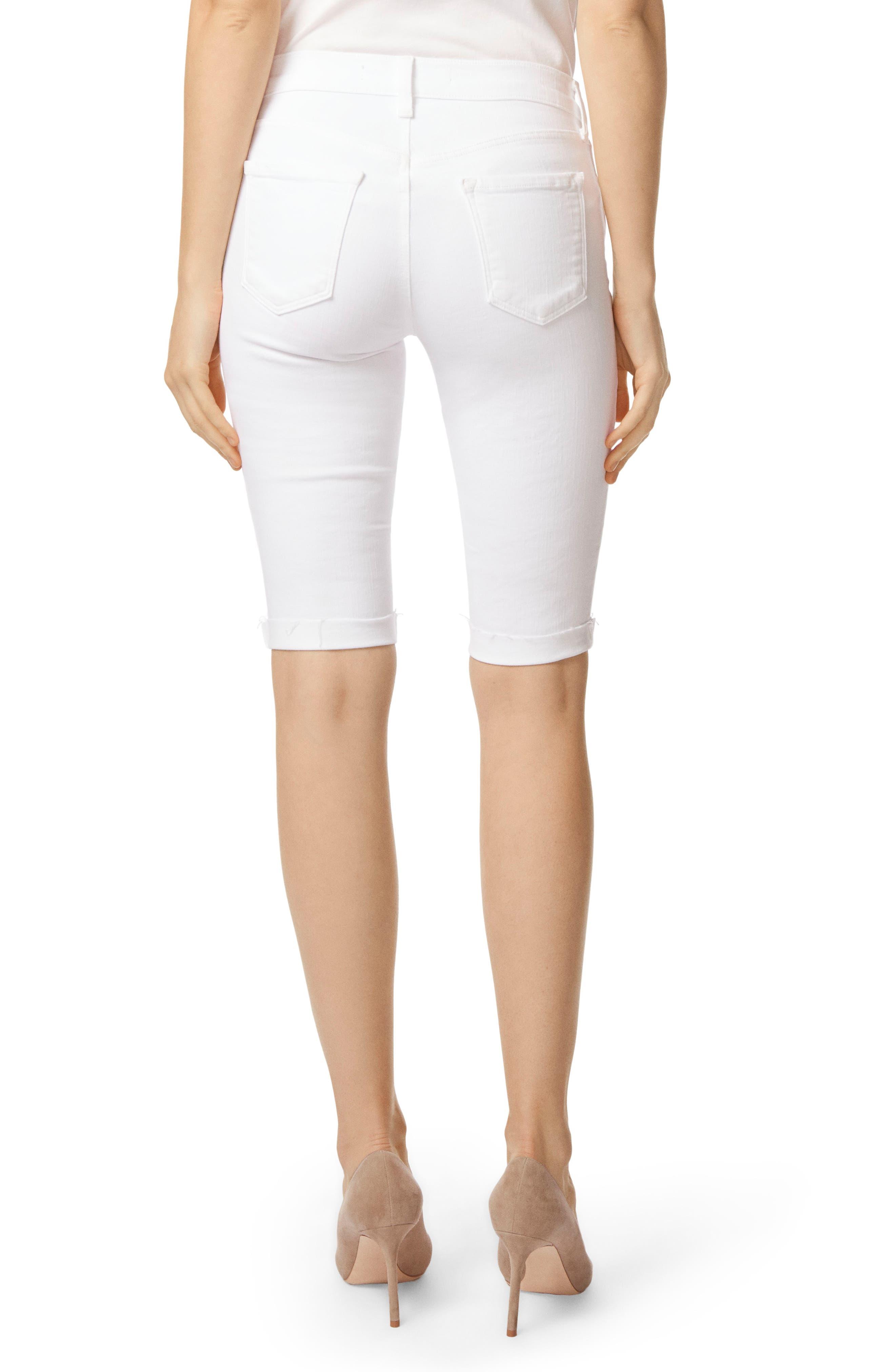 811 Skinny Bermuda Shorts,                             Alternate thumbnail 2, color,                             Blanc