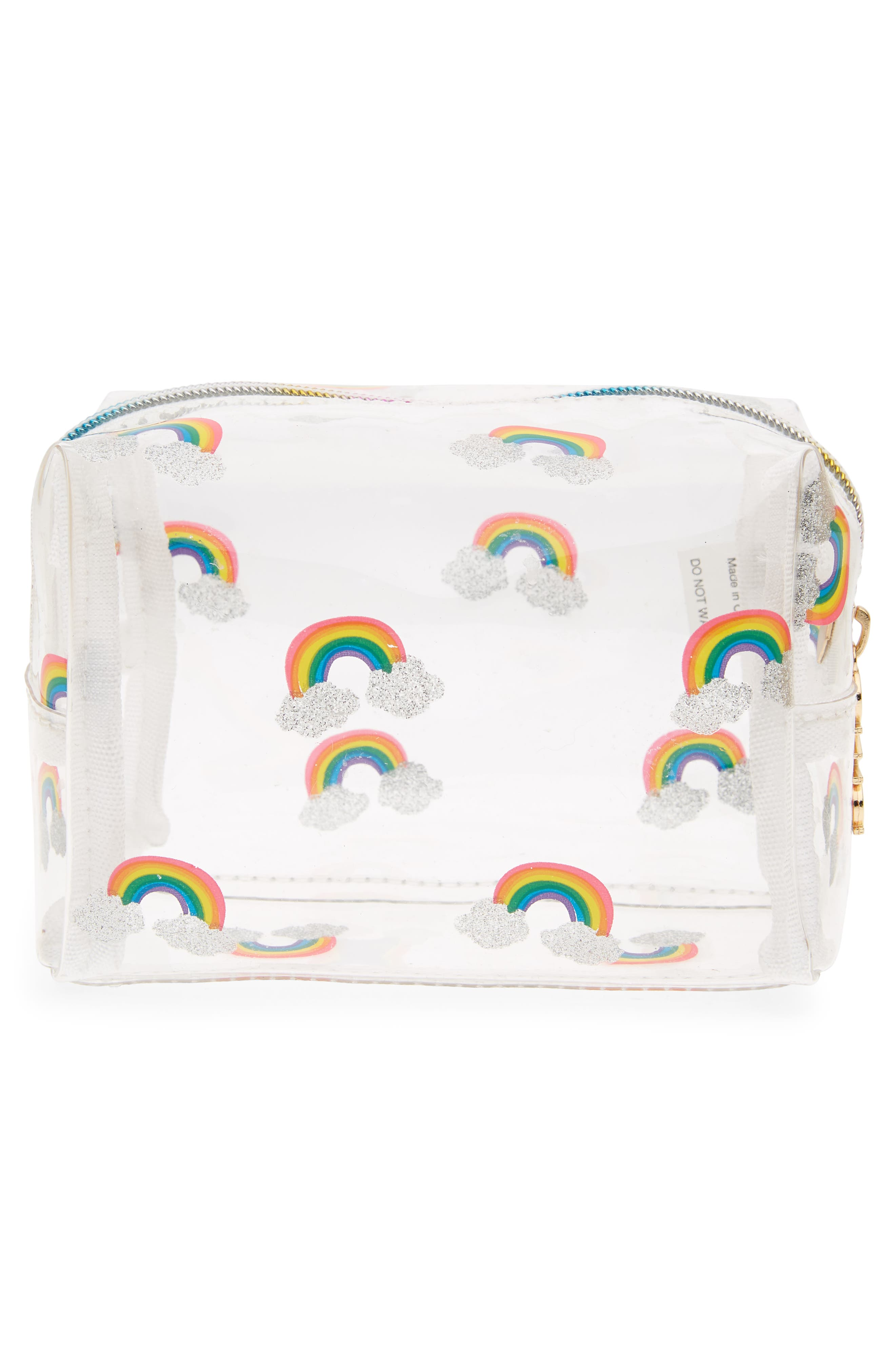 Rainbow Cosmetics Bag,                             Alternate thumbnail 2, color,                             Multi