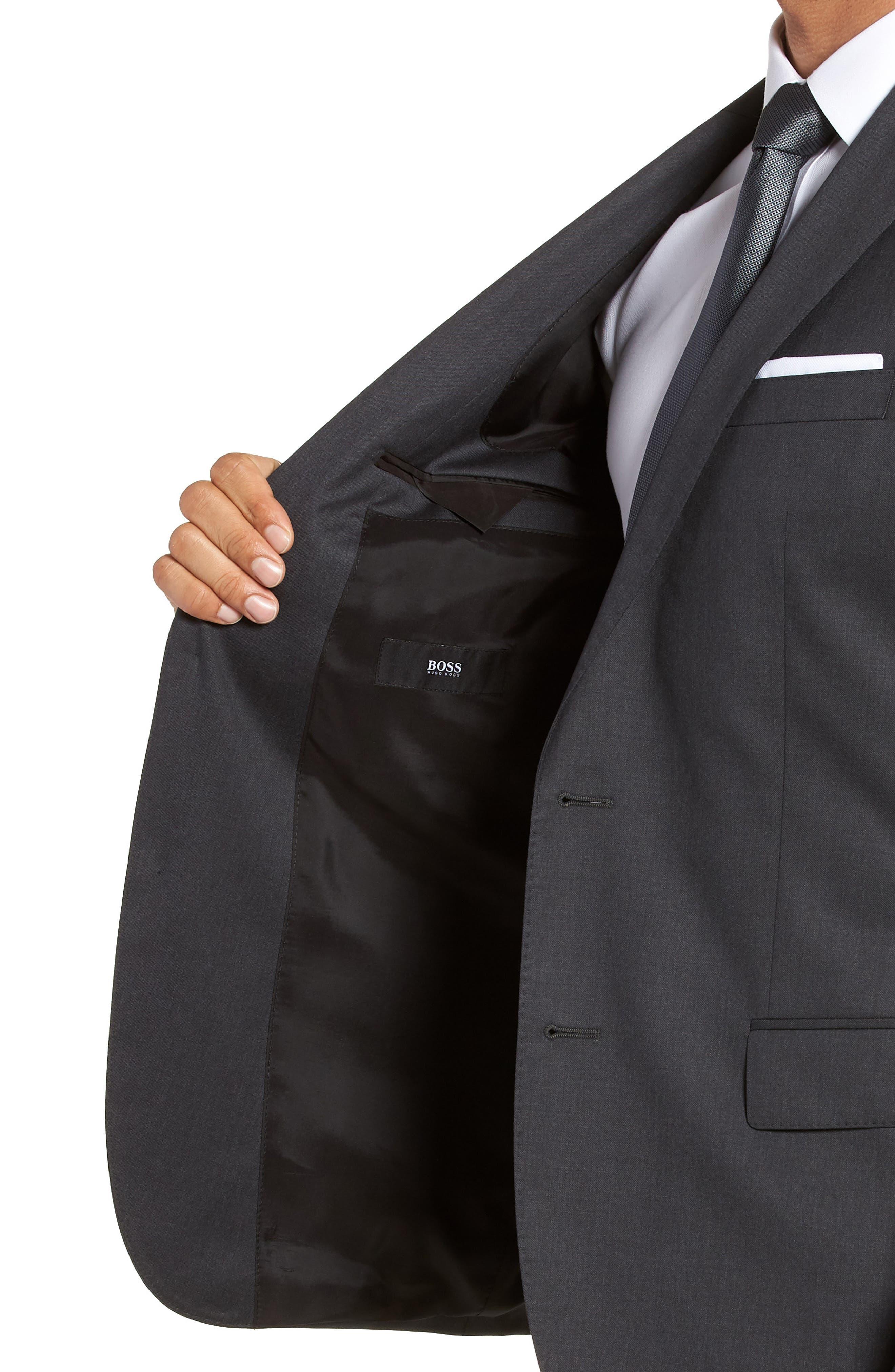 Hayes CYL Trim Fit Solid Wool Sport Coat,                             Alternate thumbnail 4, color,                             Dark Grey