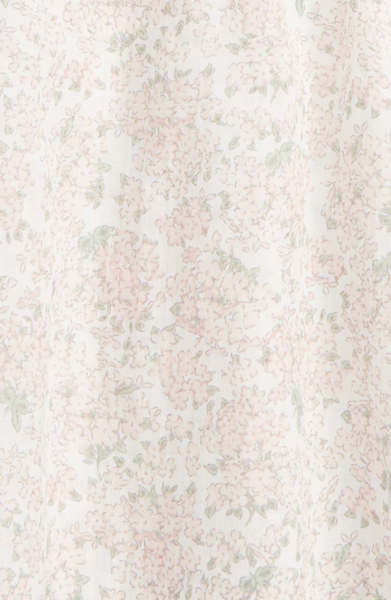 Felia Floral Print Blouse,                             Alternate thumbnail 2, color,                             Ivory